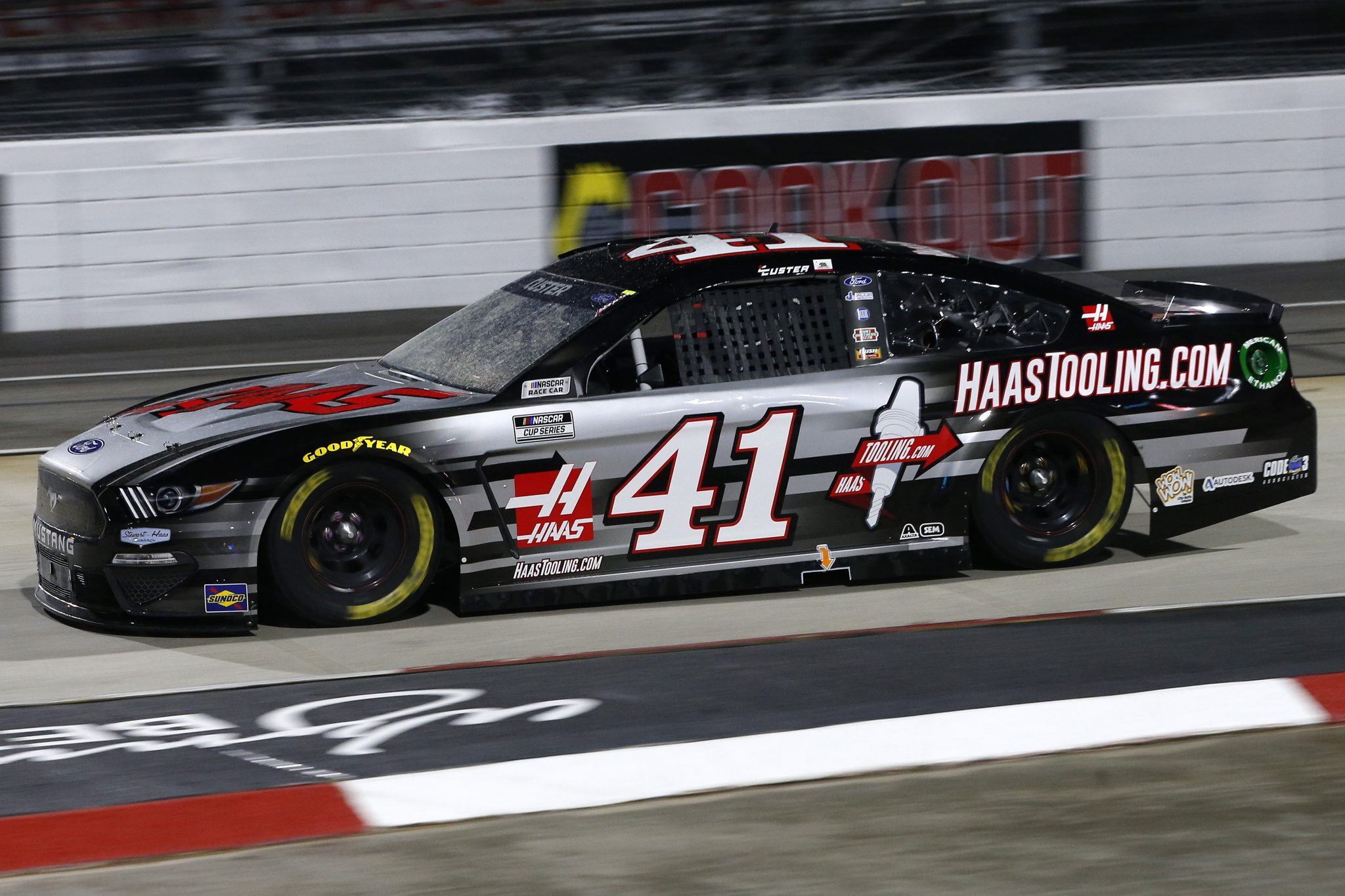 MARTINSVILLE, VIRGINIA - APRIL 10: Cole Custer, driver of the #41 HaasTooling.com Ford, drives during the NASCAR Cup Series Blue-Emu Maximum Pain Relief 500 at Martinsville Speedway on April 10, 2021 in Martinsville, Virginia. (Photo by Brian Lawdermilk/Getty Images) | Getty Images