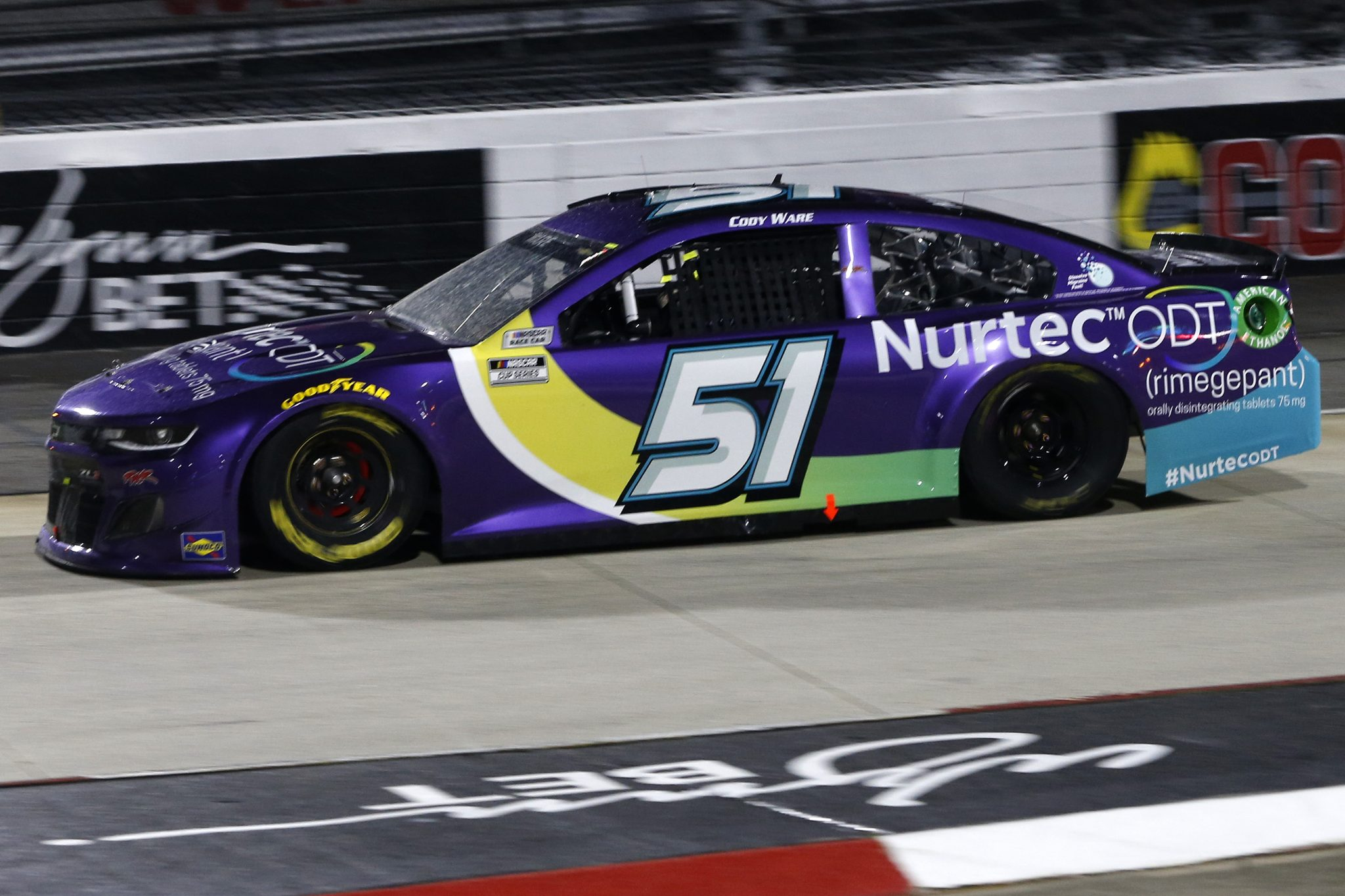 MARTINSVILLE, VIRGINIA - APRIL 10: Cody Ware, driver of the #51 Nurtec ODT Chevrolet, drives during the NASCAR Cup Series Blue-Emu Maximum Pain Relief 500 at Martinsville Speedway on April 10, 2021 in Martinsville, Virginia. (Photo by Brian Lawdermilk/Getty Images) | Getty Images