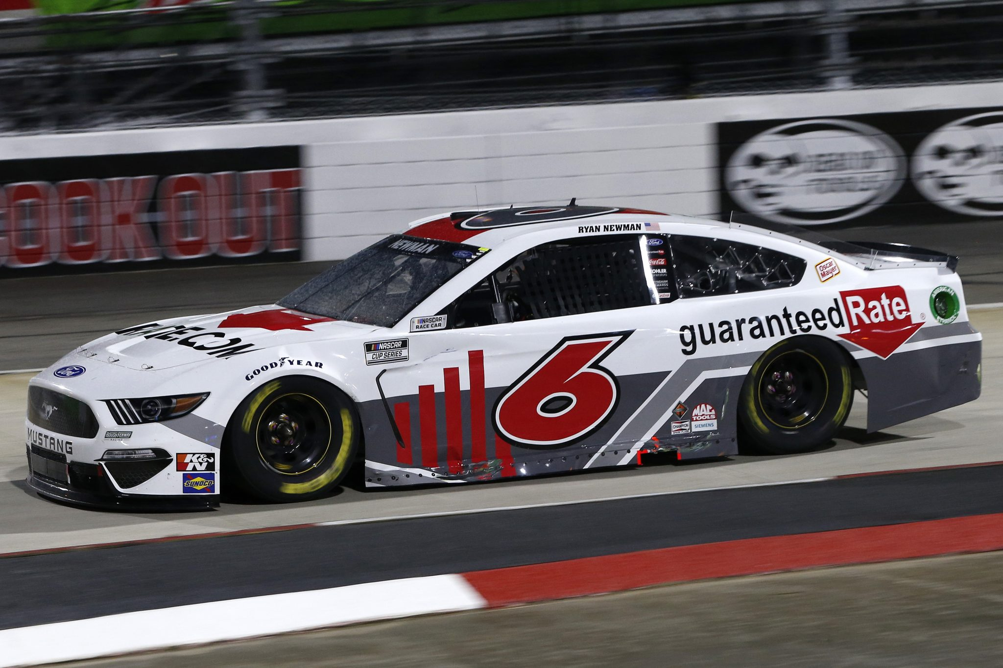 MARTINSVILLE, VIRGINIA - APRIL 10: Ryan Newman, driver of the #6 Guaranteed Rate Ford, drives during the NASCAR Cup Series Blue-Emu Maximum Pain Relief 500 at Martinsville Speedway on April 10, 2021 in Martinsville, Virginia. (Photo by Brian Lawdermilk/Getty Images) | Getty Images