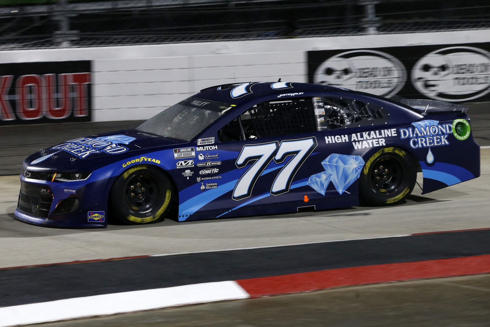 MARTINSVILLE, VIRGINIA - APRIL 10: Justin Haley, driver of the #77 Diamond Creek Water Chevrolet, drives during the NASCAR Cup Series Blue-Emu Maximum Pain Relief 500 at Martinsville Speedway on April 10, 2021 in Martinsville, Virginia. (Photo by Brian Lawdermilk/Getty Images) | Getty Images