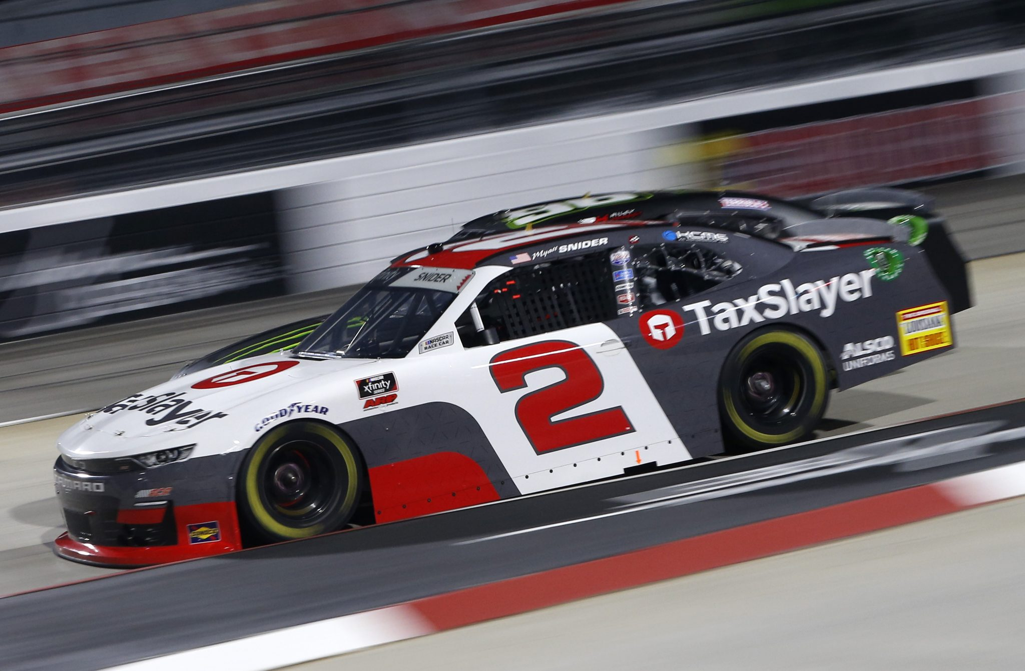 MARTINSVILLE, VIRGINIA - APRIL 09: Myatt Snider, driver of the #2 TaxSlayer Chevrolet, drives during the NASCAR Xfinity Series Cook Out 250 at Martinsville Speedway on April 09, 2021 in Martinsville, Virginia. (Photo by Brian Lawdermilk/Getty Images) | Getty Images