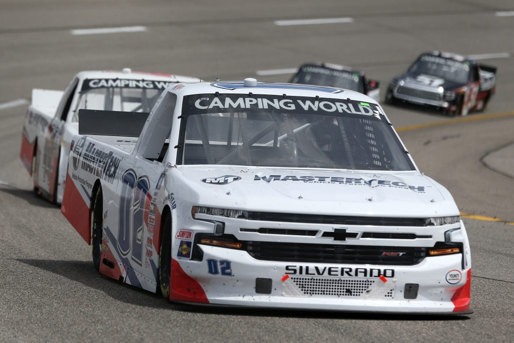 RICHMOND, VIRGINIA - APRIL 17: Kris Wright, driver of the #02 MasterTech Chevrolet, drives during the NASCAR Camping World Truck Series ToyotaCare 250 at Richmond Raceway on April 17, 2021 in Richmond, Virginia. (Photo by Brian Lawdermilk/Getty Images) | Getty Images