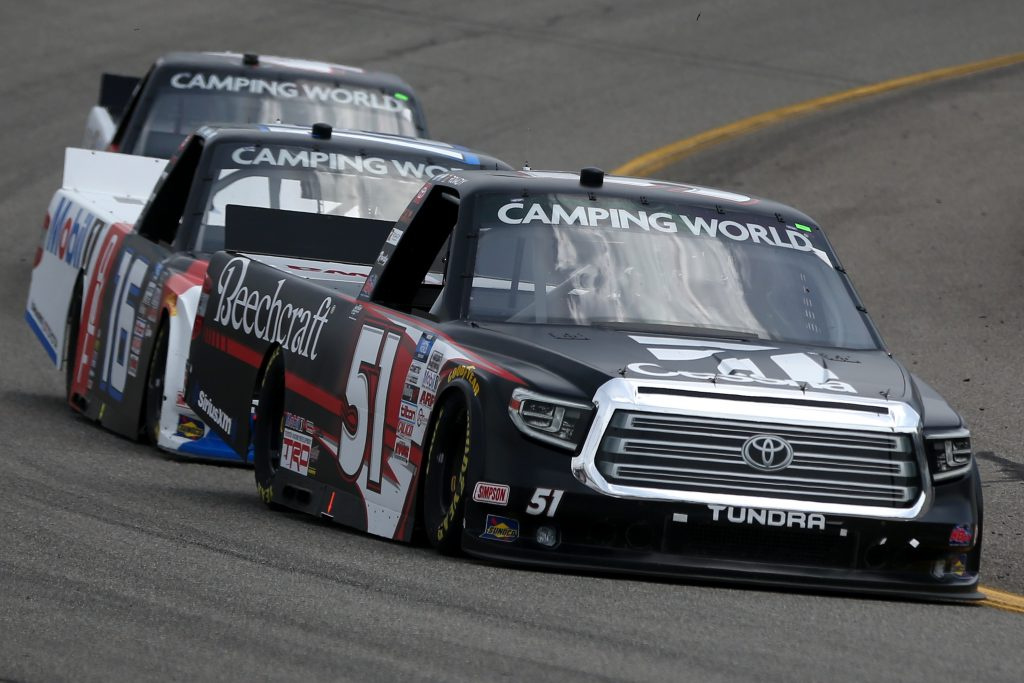 RICHMOND, VIRGINIA - APRIL 17: Kyle Busch, driver of the #51 Cessna Toyota, drives during the NASCAR Camping World Truck Series ToyotaCare 250 at Richmond Raceway on April 17, 2021 in Richmond, Virginia. (Photo by Brian Lawdermilk/Getty Images) | Getty Images