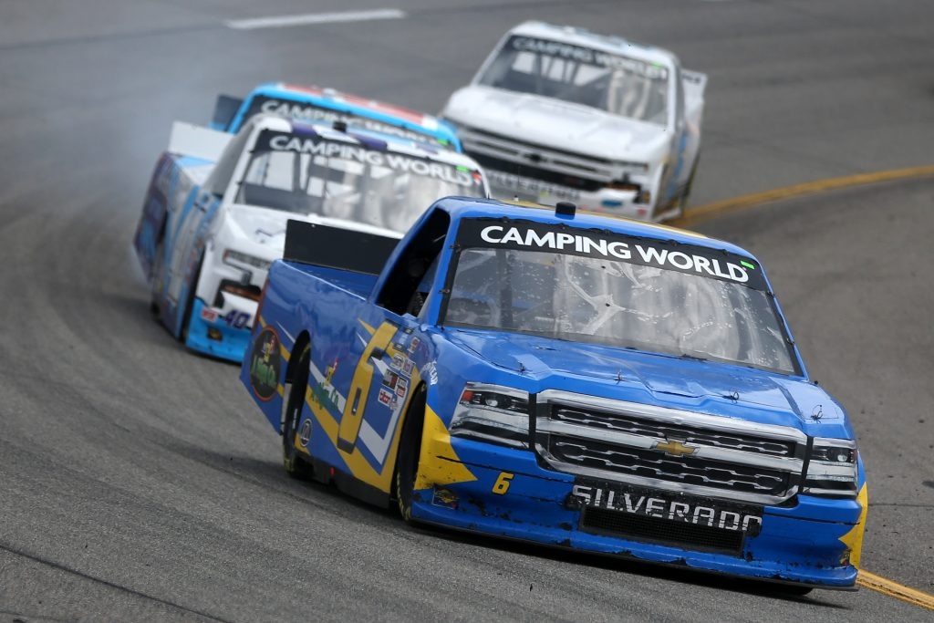 RICHMOND, VIRGINIA - APRIL 17: Norm Benning, driver of the #6 MDS A Sign Co Chevrolet, drives during the NASCAR Camping World Truck Series ToyotaCare 250 at Richmond Raceway on April 17, 2021 in Richmond, Virginia. (Photo by Brian Lawdermilk/Getty Images) | Getty Images