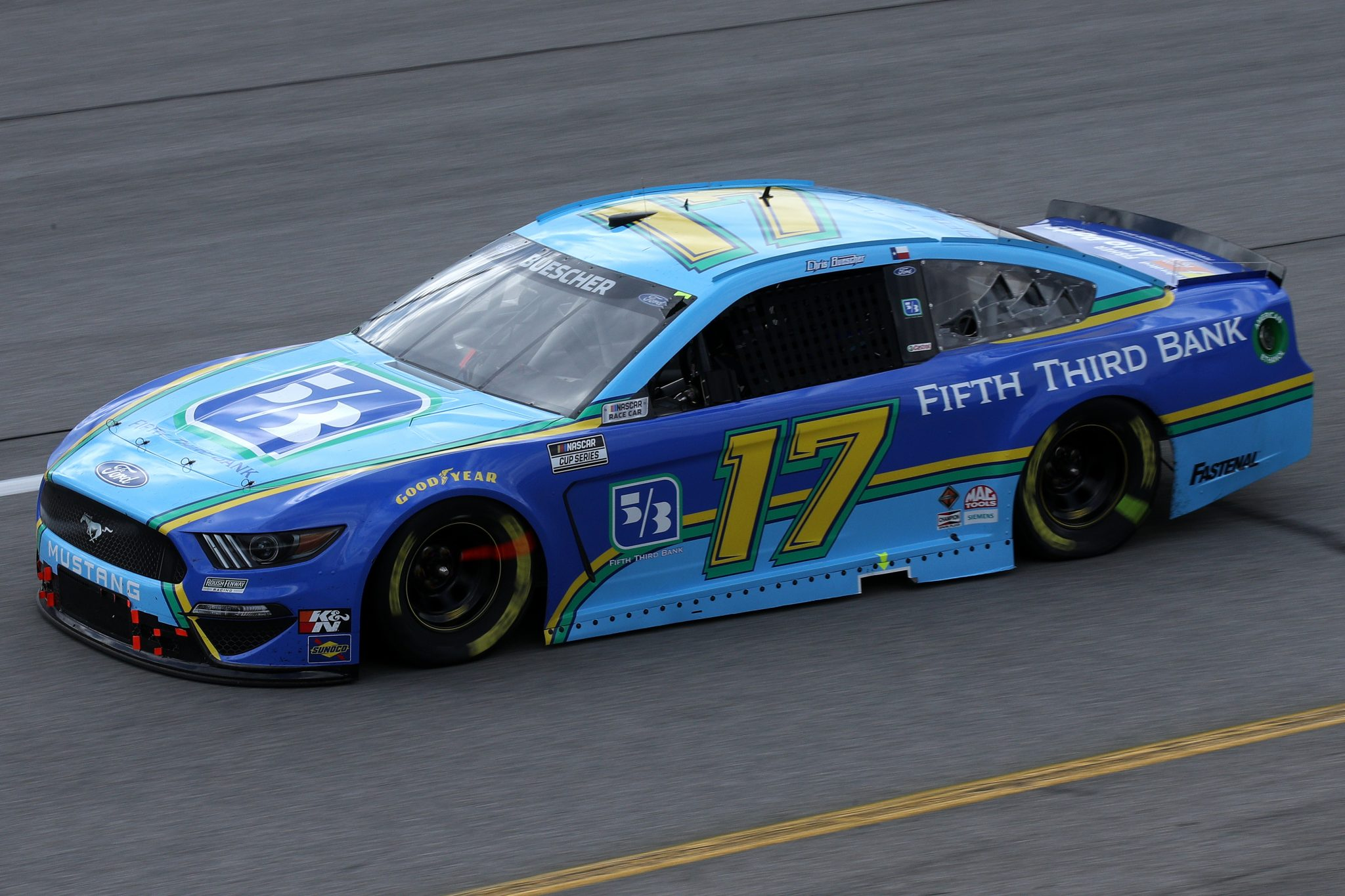 RICHMOND, VIRGINIA - APRIL 18: Chris Buescher, driver of the #17 Fifth Third Bank Ford, drives during the NASCAR Cup Series Toyota Owners 400 at Richmond Raceway on April 18, 2021 in Richmond, Virginia. (Photo by Sean Gardner/Getty Images) | Getty Images