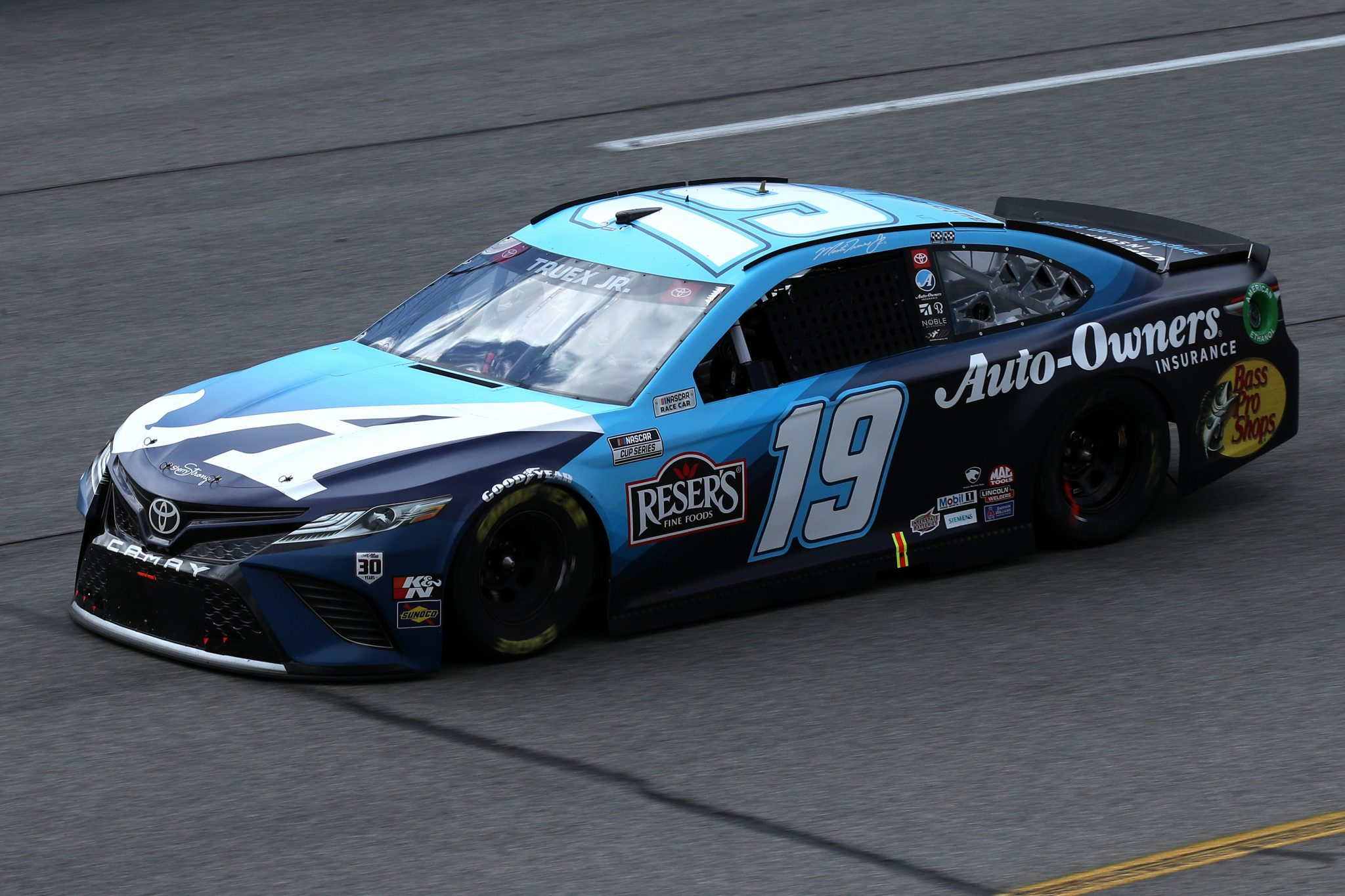 RICHMOND, VIRGINIA - APRIL 18: Martin Truex Jr., driver of the #19 Auto-Owners Insurance Toyota, drives during the NASCAR Cup Series Toyota Owners 400 at Richmond Raceway on April 18, 2021 in Richmond, Virginia. (Photo by Sean Gardner/Getty Images) | Getty Images