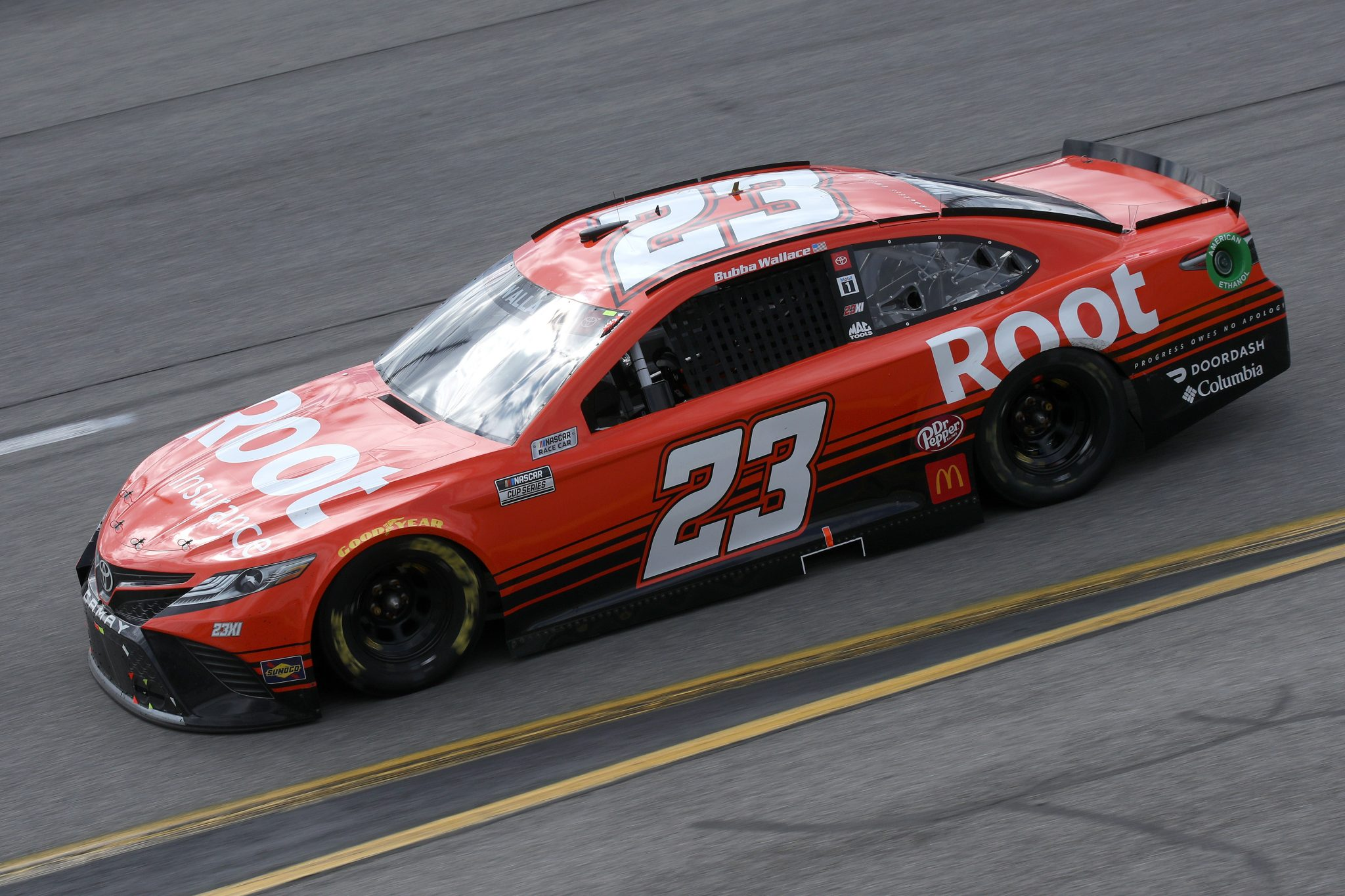 RICHMOND, VIRGINIA - APRIL 18: Bubba Wallace, driver of the #23 Root Insurance Toyota, drives during the NASCAR Cup Series Toyota Owners 400 at Richmond Raceway on April 18, 2021 in Richmond, Virginia. (Photo by Sean Gardner/Getty Images) | Getty Images