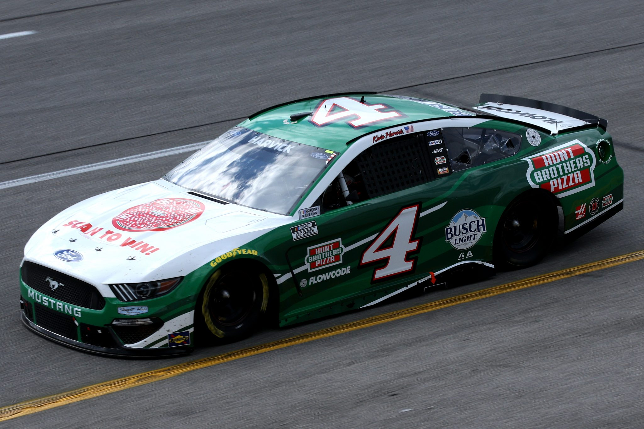 RICHMOND, VIRGINIA - APRIL 18: Kevin Harvick, driver of the #4 Hunt Brother's Pizza Ford, drives during the NASCAR Cup Series Toyota Owners 400 at Richmond Raceway on April 18, 2021 in Richmond, Virginia. (Photo by Sean Gardner/Getty Images) | Getty Images