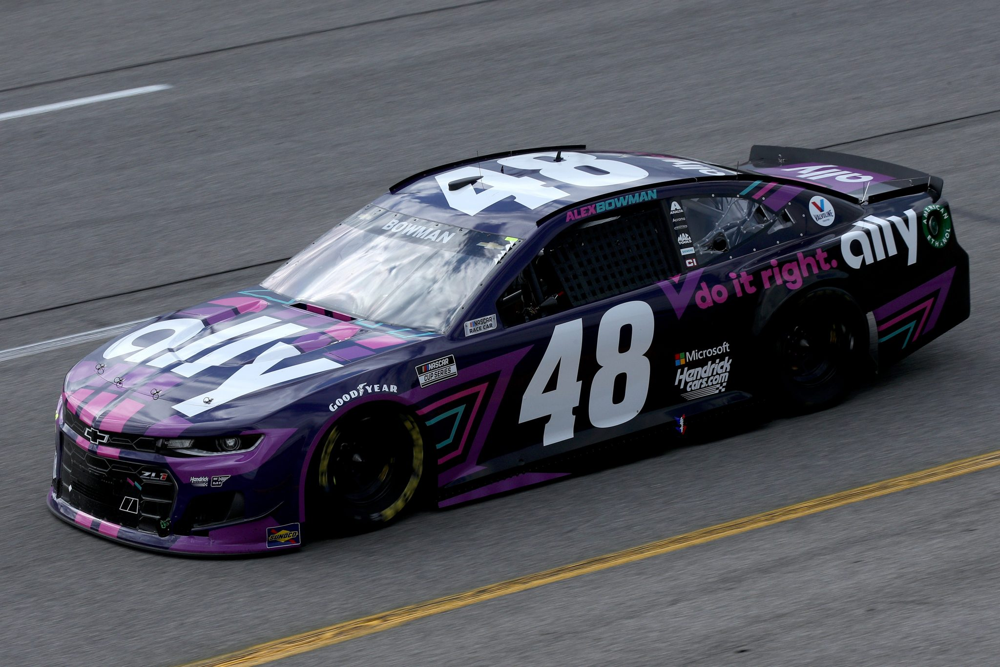 RICHMOND, VIRGINIA - APRIL 18: Alex Bowman, driver of the #48 Ally Chevrolet, drives during the NASCAR Cup Series Toyota Owners 400 at Richmond Raceway on April 18, 2021 in Richmond, Virginia. (Photo by Sean Gardner/Getty Images) | Getty Images