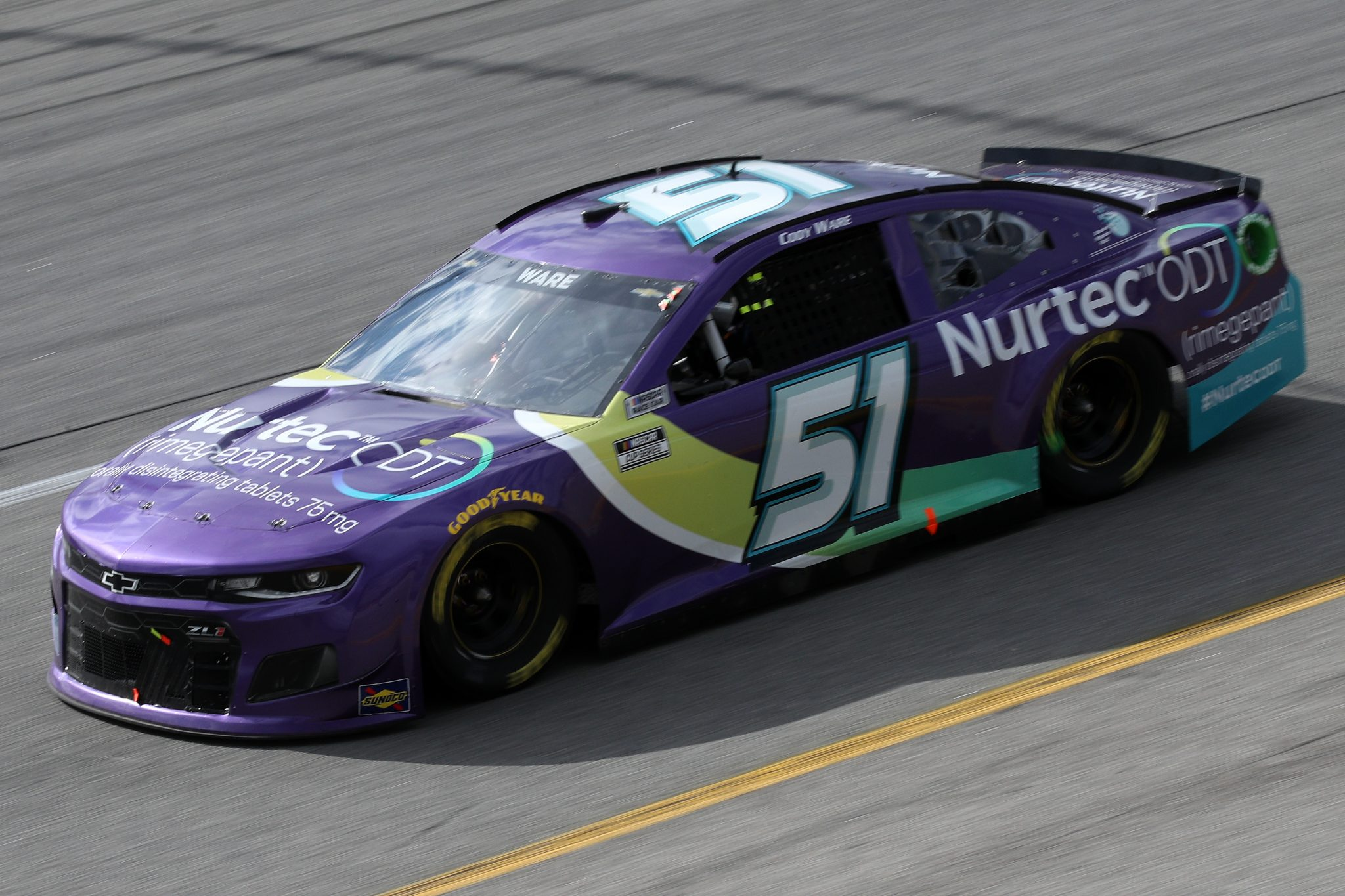 RICHMOND, VIRGINIA - APRIL 18: Cody Ware, driver of the #51 Nurtec ODT Chevrolet, drives during the NASCAR Cup Series Toyota Owners 400 at Richmond Raceway on April 18, 2021 in Richmond, Virginia. (Photo by Sean Gardner/Getty Images) | Getty Images