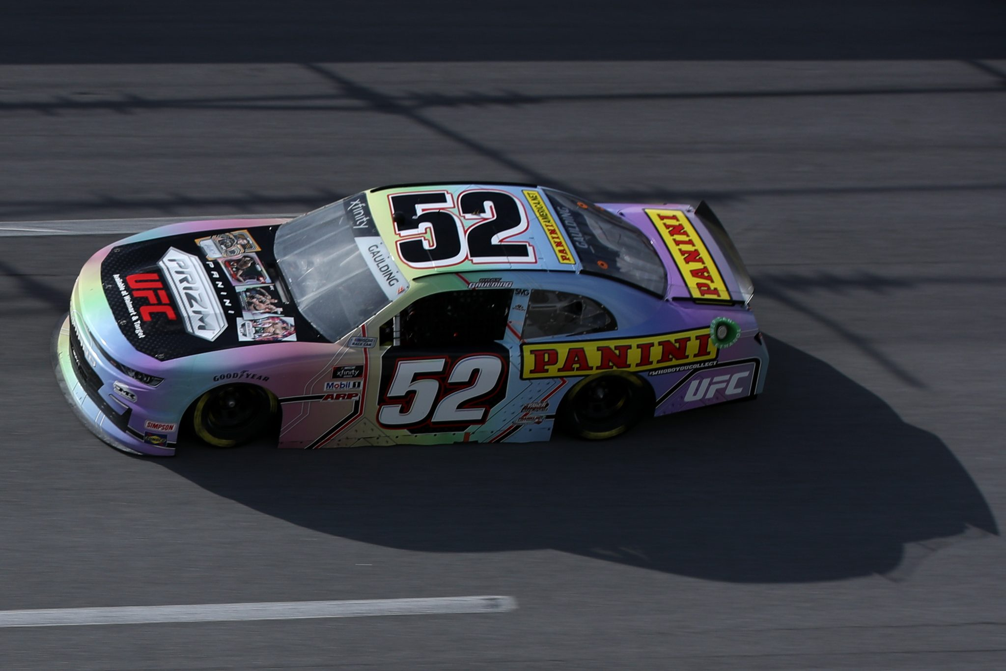 TALLADEGA, ALABAMA - APRIL 24: Gray Gaulding, driver of the #52 Panini America Chevrolet, drives during the NASCAR Xfinity Series Ag-Pro 300 at Talladega Superspeedway on April 24, 2021 in Talladega, Alabama. (Photo by Sean Gardner/Getty Images)   Getty Images