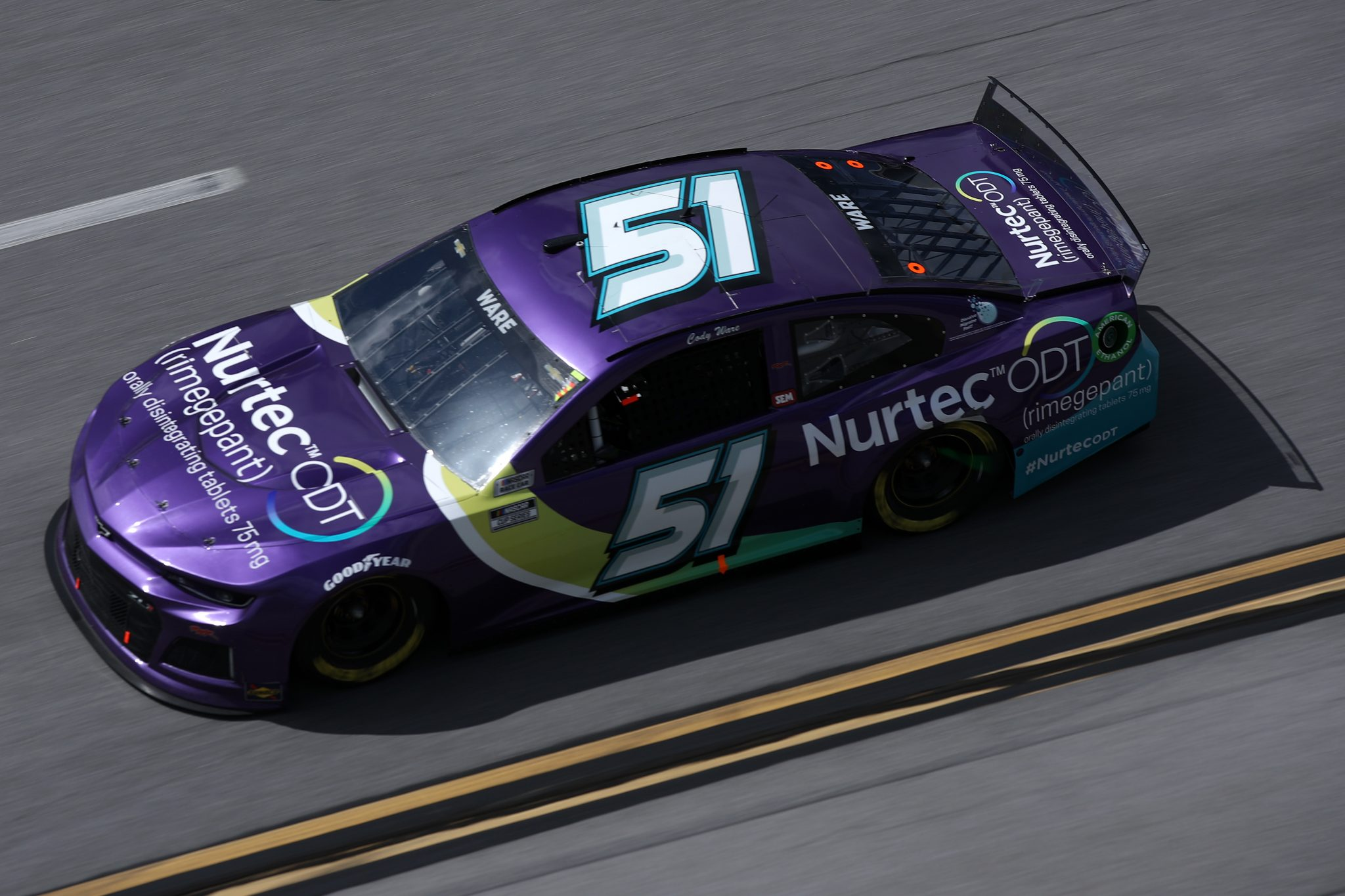 TALLADEGA, ALABAMA - APRIL 25: Cody Ware, driver of the #51 Nurtec ODT Chevrolet, drives during the NASCAR Cup Series GEICO 500 at Talladega Superspeedway on April 25, 2021 in Talladega, Alabama. (Photo by Sean Gardner/Getty Images) | Getty Images