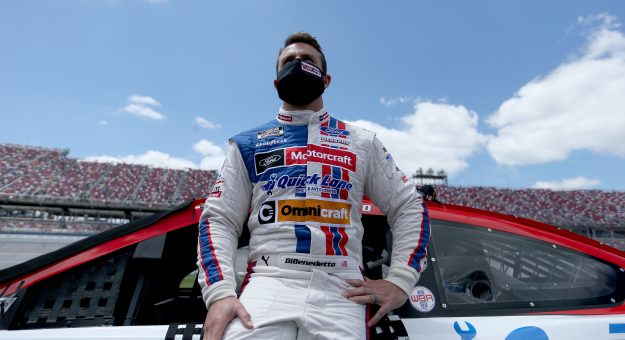 TALLADEGA, ALABAMA - APRIL 25: Matt DiBenedetto, driver of the #21 Motorcraft Quick Lane Ford, waits on the grid prior to the NASCAR Cup Series  GEICO 500 at Talladega Superspeedway on April 25, 2021 in Talladega, Alabama. (Photo by Sean Gardner/Getty Images)   Getty Images
