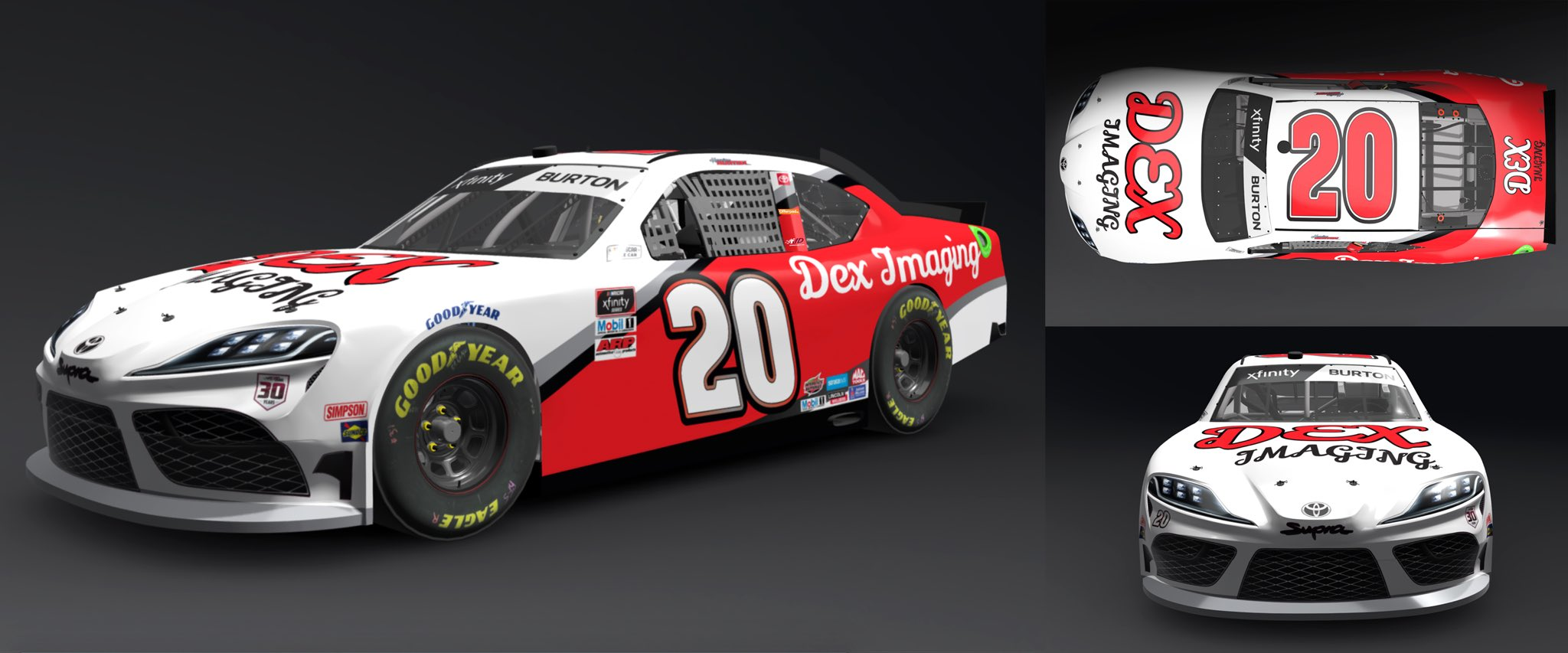 Harrison Burton 2021 Throwback
