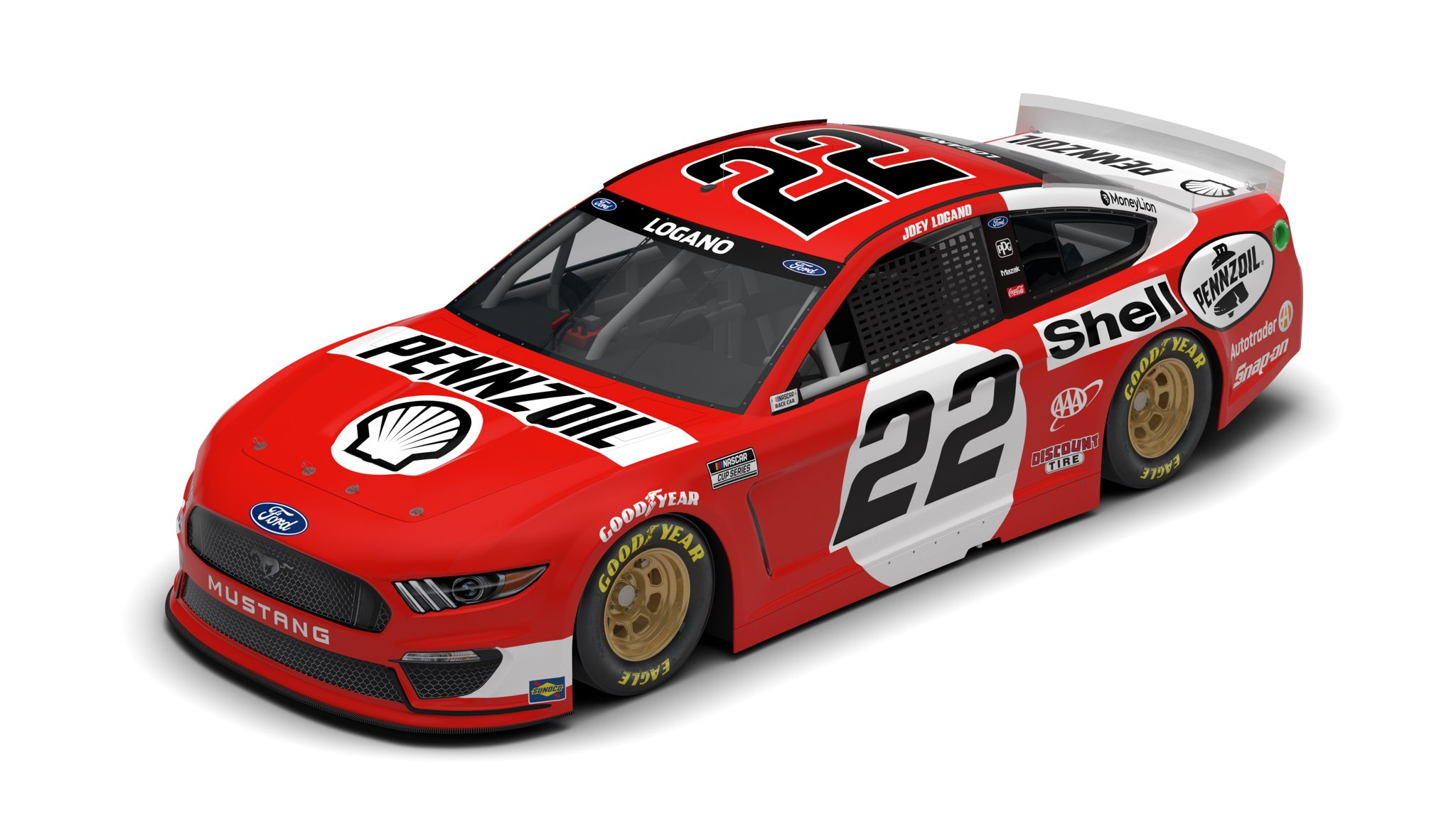 Joey Logano 2021 Throwback