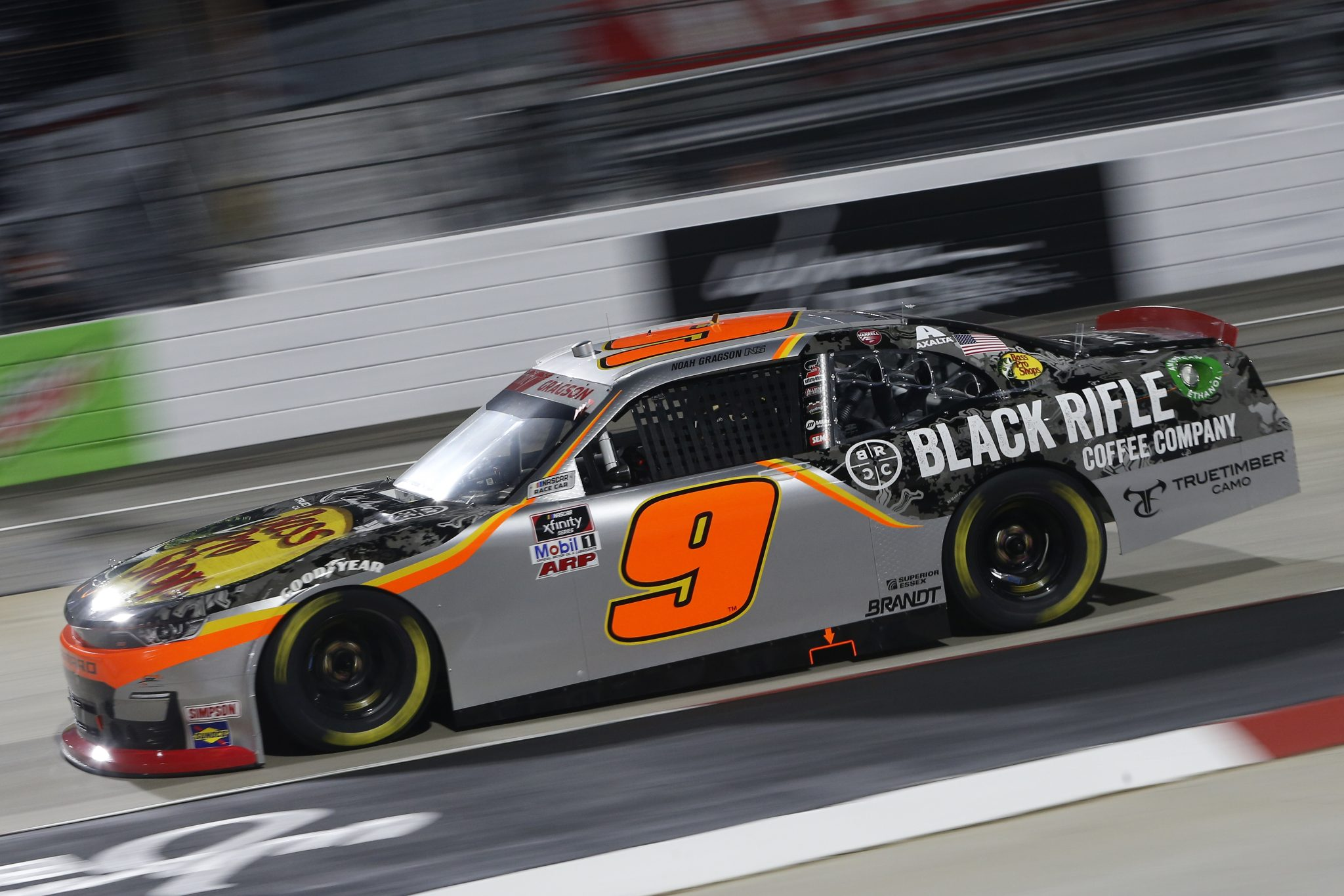 MARTINSVILLE, VIRGINIA - APRIL 09: Noah Gragson, driver of the #9 Bsas Pro Shops/True Timber/BRCC Chevrolet, drives during the NASCAR Xfinity Series Cook Out 250 at Martinsville Speedway on April 09, 2021 in Martinsville, Virginia. (Photo by Brian Lawdermilk/Getty Images) | Getty Images