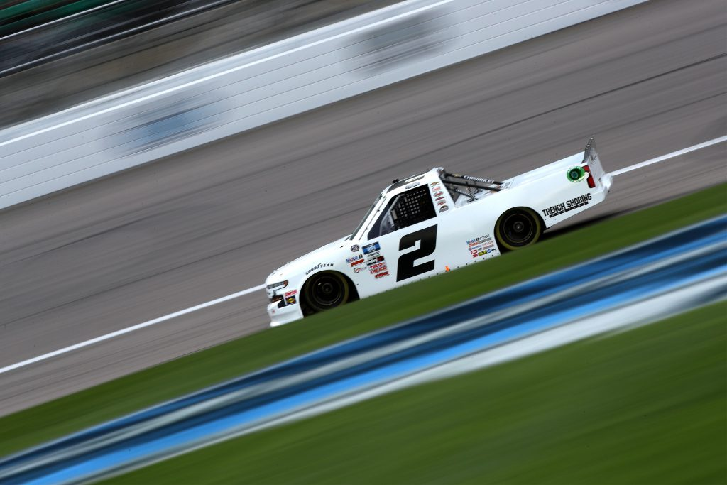 KANSAS CITY, KANSAS - MAY 01: Sheldon Creed, driver of the #2 Chevrolet, drives during the NASCAR Camping World Truck Series Wise Power 200 at Kansas Speedway on May 01, 2021 in Kansas City, Kansas. (Photo by Sean Gardner/Getty Images) | Getty Images
