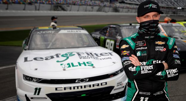 DAYTONA BEACH, FLORIDA - FEBRUARY 13: Justin Haley, driver of the #11 LeafFilter Gutter Protection Chevrolet, waits on the grid prior to the NASCAR Xfinity Series Beef. It's What's For Dinner. 300 at Daytona International Speedway on February 13, 2021 in Daytona Beach, Florida. (Photo by Chris Graythen/Getty Images)   Getty Images