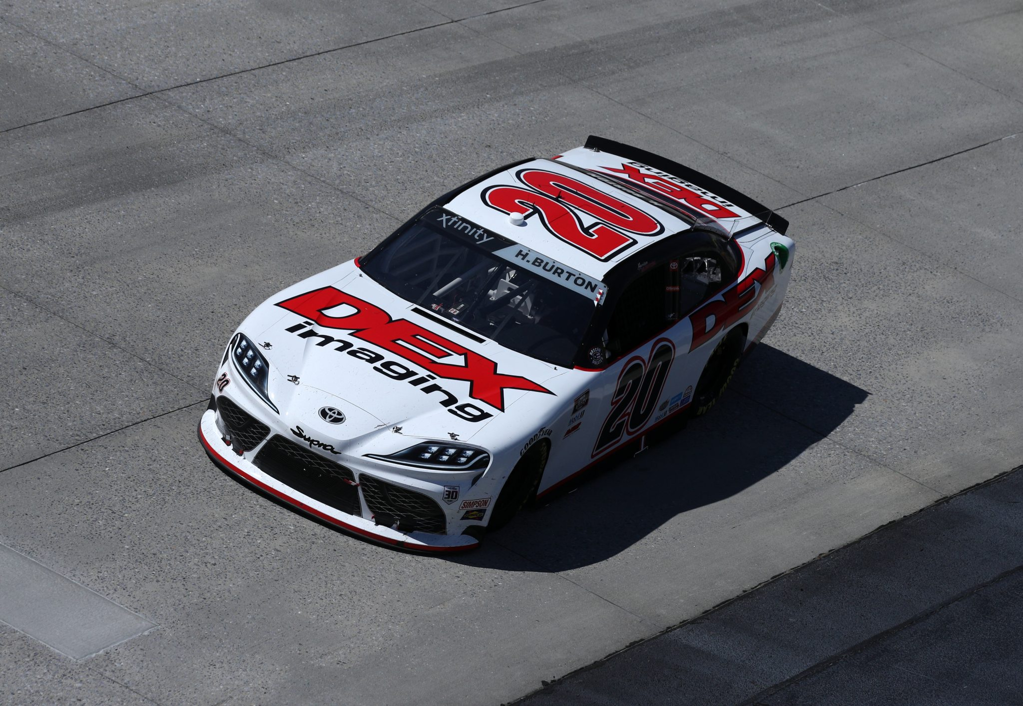 DOVER, DELAWARE - MAY 15: Harrison Burton, driver of the #20 DEX Imaging Toyota, races during the NASCAR Xfinity Series Drydene 200 race at Dover International Speedway on May 15, 2021 in Dover, Delaware. (Photo by Sean Gardner/Getty Images) | Getty Images