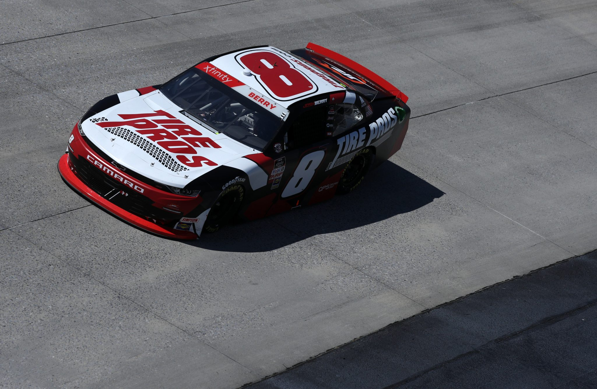DOVER, DELAWARE - MAY 15: Josh Berry, driver of the #8 Tire Pros Chevrolet, races during the NASCAR Xfinity Series Drydene 200 race at Dover International Speedway on May 15, 2021 in Dover, Delaware. (Photo by Sean Gardner/Getty Images) | Getty Images