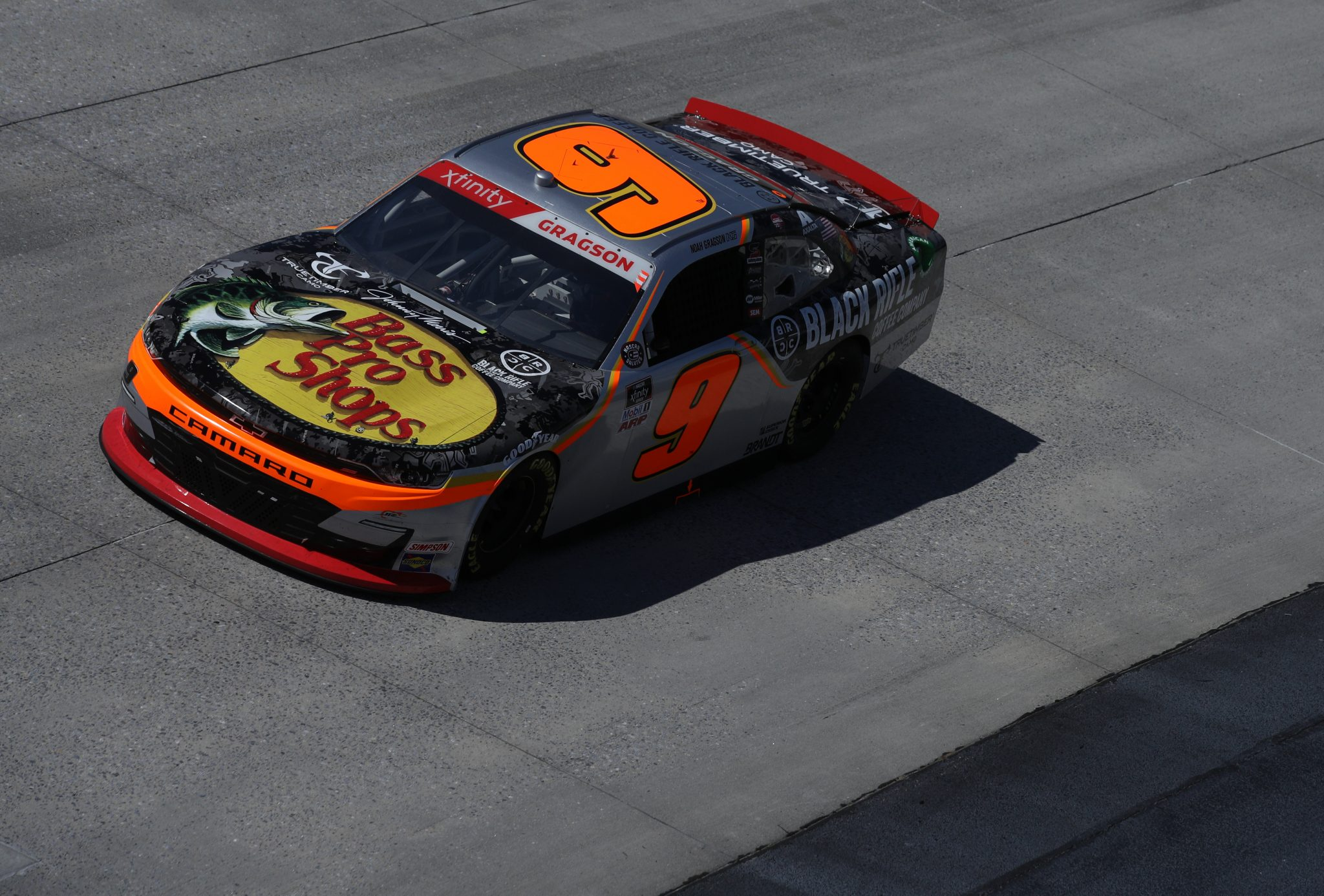 DOVER, DELAWARE - MAY 15: Noah Gragson, driver of the #9 BassProShops/TrueTimber/BRCC Chevrolet, races during the NASCAR Xfinity Series Drydene 200 race at Dover International Speedway on May 15, 2021 in Dover, Delaware. (Photo by Sean Gardner/Getty Images) | Getty Images
