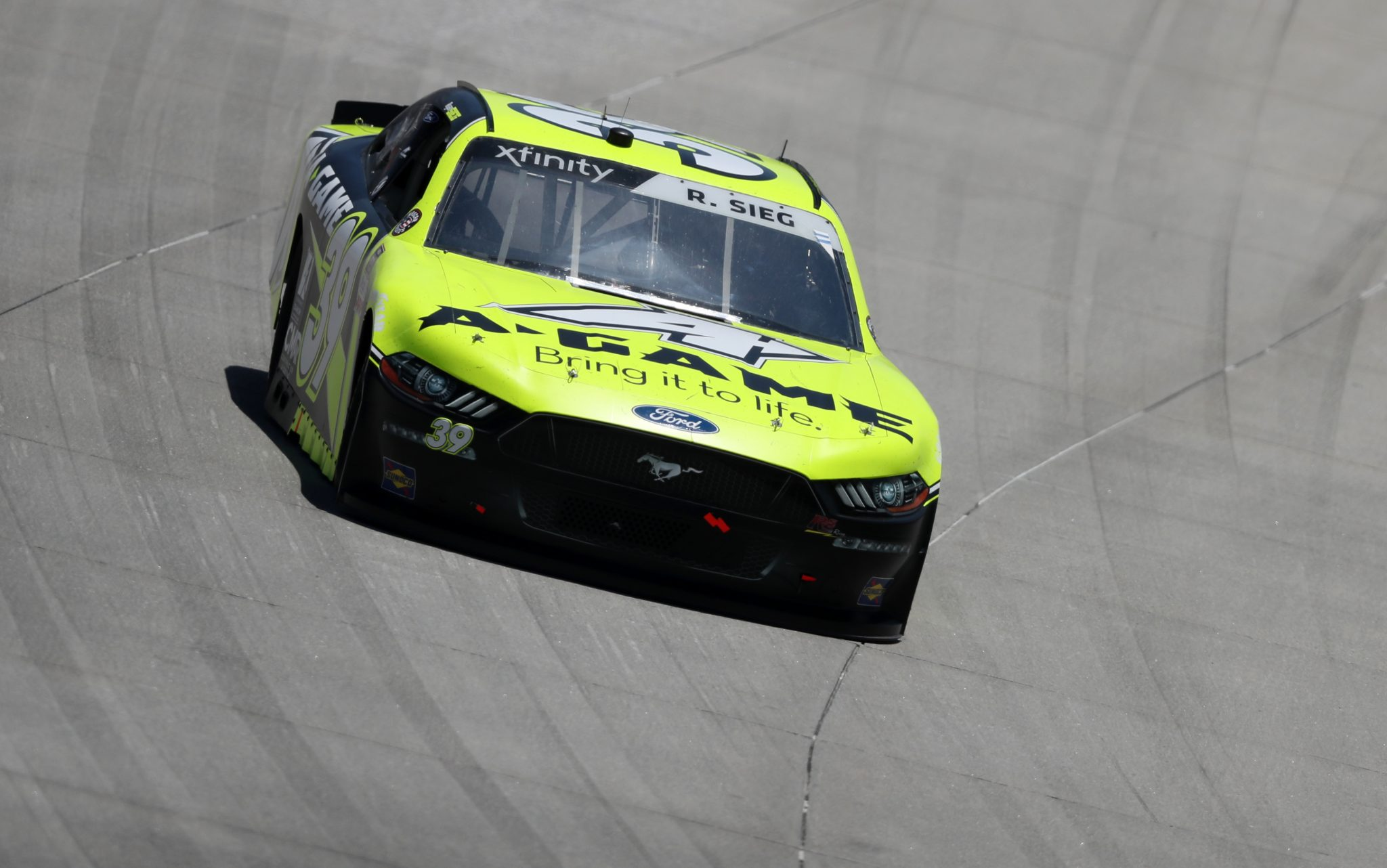 DOVER, DELAWARE - MAY 15: Ryan Sieg, driver of the #39 CMR Construction and Roofing Ford, races during the NASCAR Xfinity Series Drydene 200 race at Dover International Speedway on May 15, 2021 in Dover, Delaware. (Photo by James Gilbert/Getty Images) | Getty Images