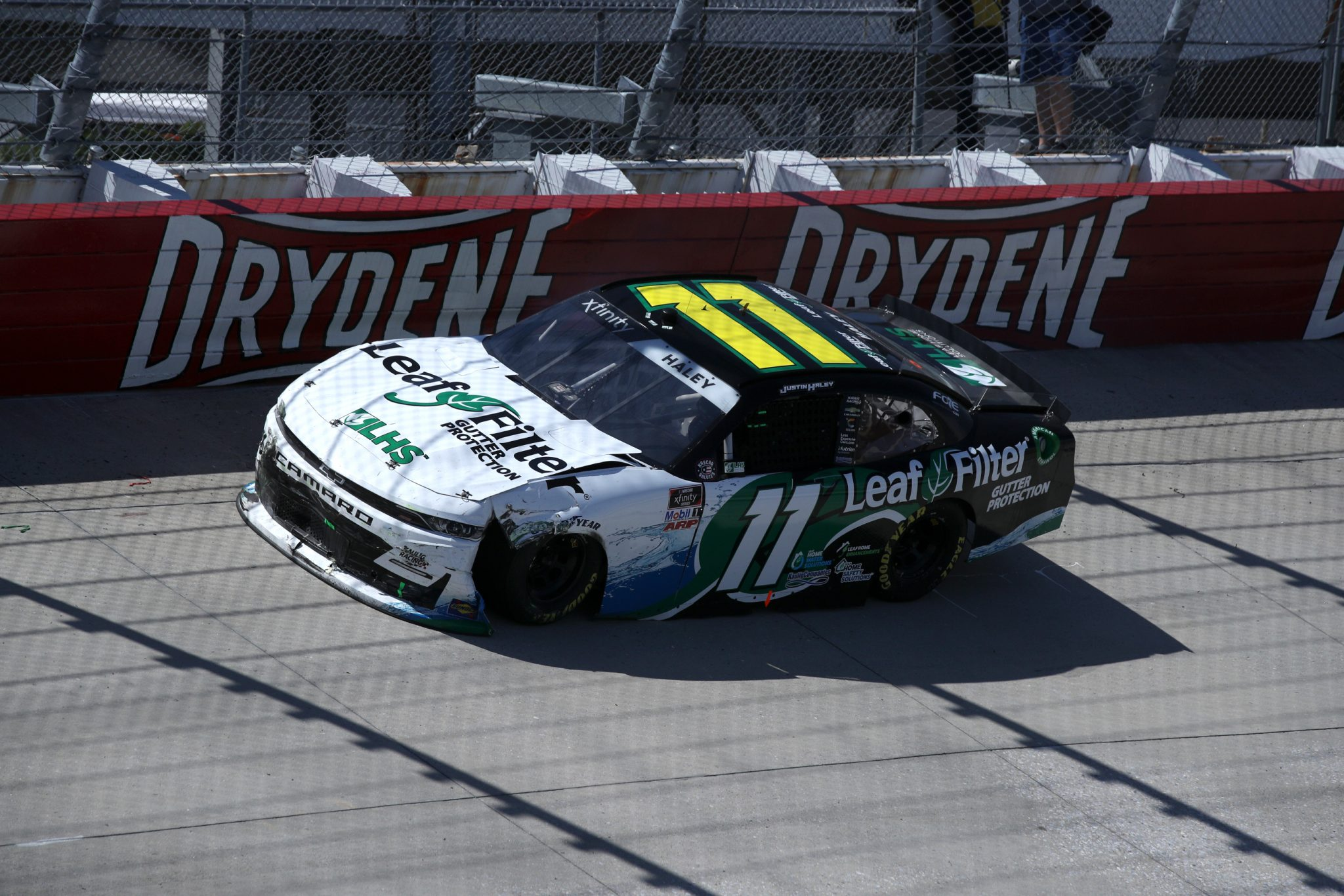 DOVER, DELAWARE - MAY 15: Zane Smith, driver of the #11 LeafFilter Gutter Protection Chevrolet, after crashing during the NASCAR Xfinity Series Drydene 200 race at Dover International Speedway on May 15, 2021 in Dover, Delaware. (Photo by Sean Gardner/Getty Images) | Getty Images