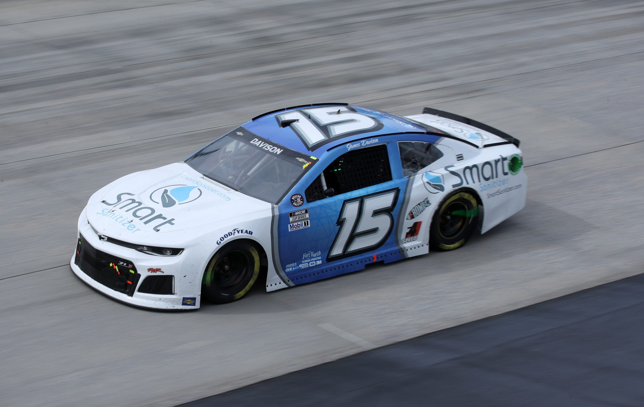 DOVER, DELAWARE - MAY 16: James Davison, driver of the #15 Rick Ware Racing Chevrolet, races during the NASCAR Cup Series Drydene 400 at Dover International Speedway on May 16, 2021 in Dover, Delaware. (Photo by Sean Gardner/Getty Images) | Getty Images