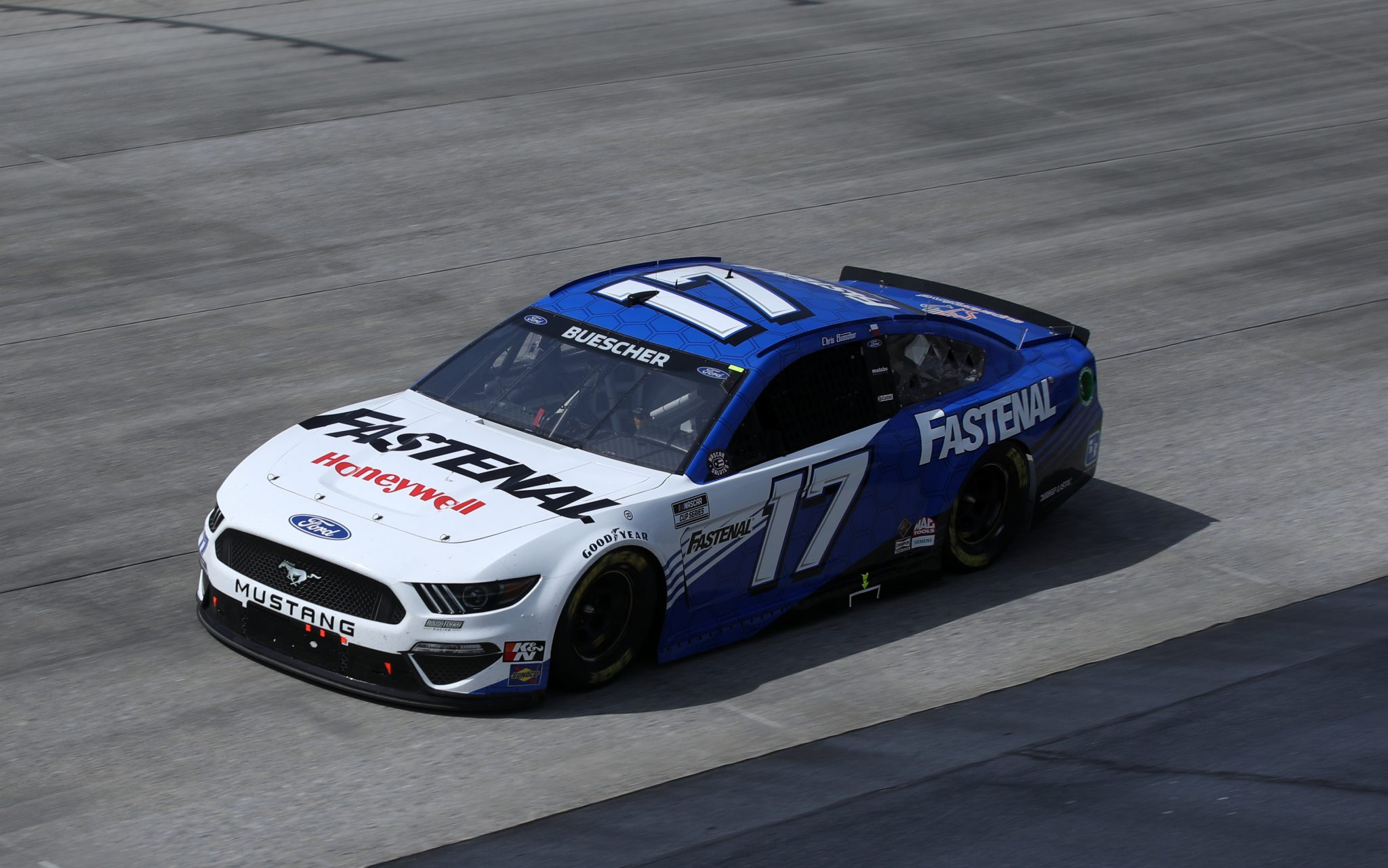 DOVER, DELAWARE - MAY 16: Chris Buescher, driver of the #17 Fastenal Ford, races during the NASCAR Cup Series Drydene 400 at Dover International Speedway on May 16, 2021 in Dover, Delaware. (Photo by Sean Gardner/Getty Images) | Getty Images