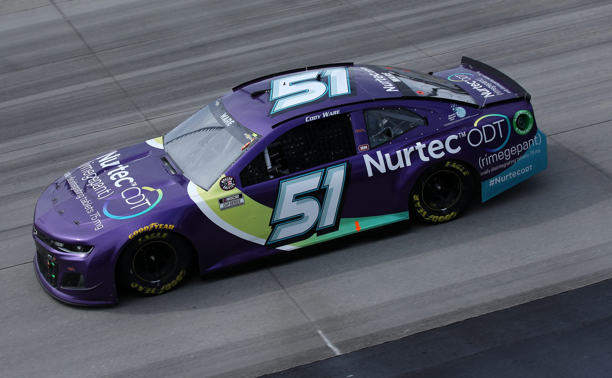 DOVER, DELAWARE - MAY 16: Cody Ware, driver of the #51 Petty Ware Racing Chevrolet, races during the NASCAR Cup Series Drydene 400 at Dover International Speedway on May 16, 2021 in Dover, Delaware. (Photo by Sean Gardner/Getty Images) | Getty Images