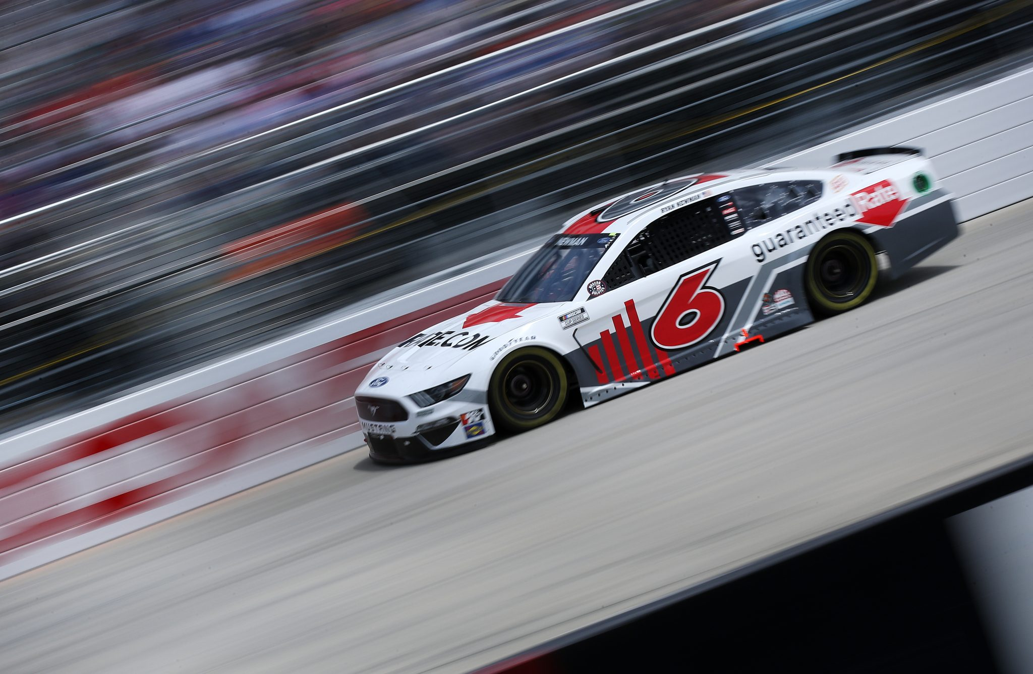 DOVER, DELAWARE - MAY 16: Ryan Newman, driver of the #6 Guaranteed Rate Ford, races during the NASCAR Cup Series Drydene 400 at Dover International Speedway on May 16, 2021 in Dover, Delaware. (Photo by Sean Gardner/Getty Images) | Getty Images