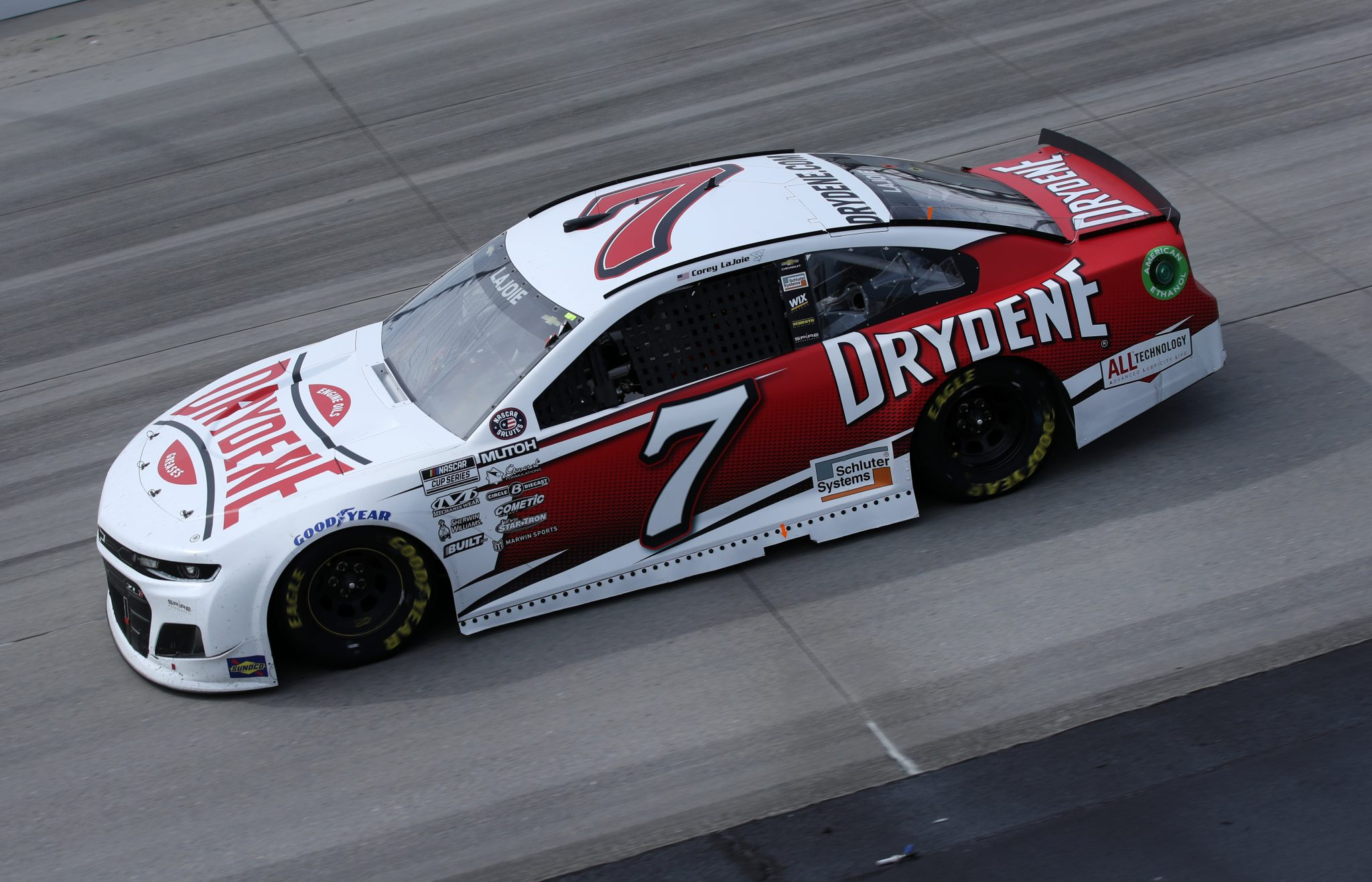 DOVER, DELAWARE - MAY 16: Corey LaJoie, driver of the #7 Drydene Performance Products Chevrolet, races during the NASCAR Cup Series Drydene 400 at Dover International Speedway on May 16, 2021 in Dover, Delaware. (Photo by Sean Gardner/Getty Images) | Getty Images