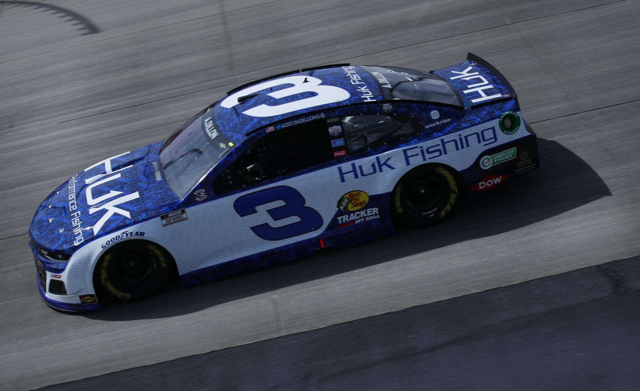 DOVER, DELAWARE - MAY 16: Austin Dillon, driver of the #3 Huk Performance Fishing Chevrolet, races during the NASCAR Cup Series Drydene 400 at Dover International Speedway on May 16, 2021 in Dover, Delaware. (Photo by Sean Gardner/Getty Images) | Getty Images