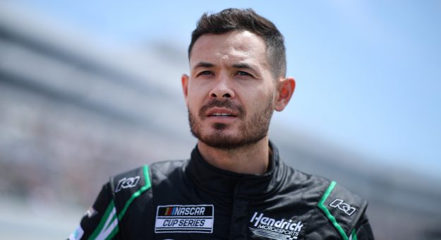DOVER, DELAWARE - MAY 16: Kyle Larson, driver of the #5 NationsGuard Chevrolet, on the grid during the NASCAR Cup Series Drydene 400 at Dover International Speedway on May 16, 2021 in Dover, Delaware. (Photo by Sean Gardner/Getty Images) | Getty Images