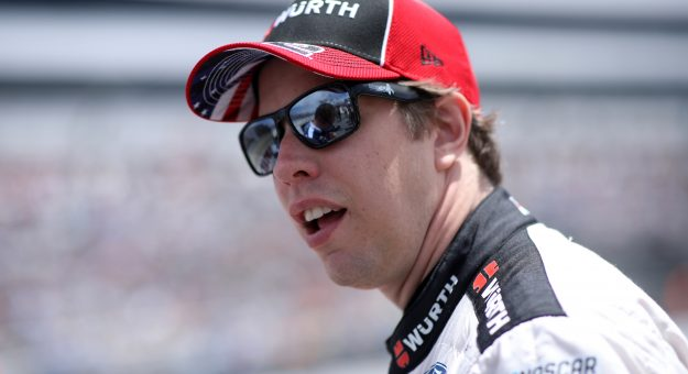 DOVER, DELAWARE - MAY 16: Brad Keselowski, driver of the #2 Wurth/UTI Ford, walks the grid during the NASCAR Cup Series Drydene 400 at Dover International Speedway on May 16, 2021 in Dover, Delaware. (Photo by Sean Gardner/Getty Images) | Getty Images