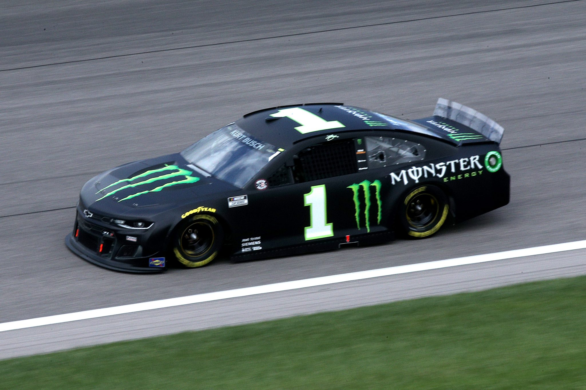 KANSAS CITY, KANSAS - MAY 02: Kurt Busch, driver of the #1 Monster Energy Chevrolet, drives during the NASCAR Cup Series Buschy McBusch Race 400 at Kansas Speedway on May 02, 2021 in Kansas City, Kansas. (Photo by Sean Gardner/Getty Images) | Getty Images