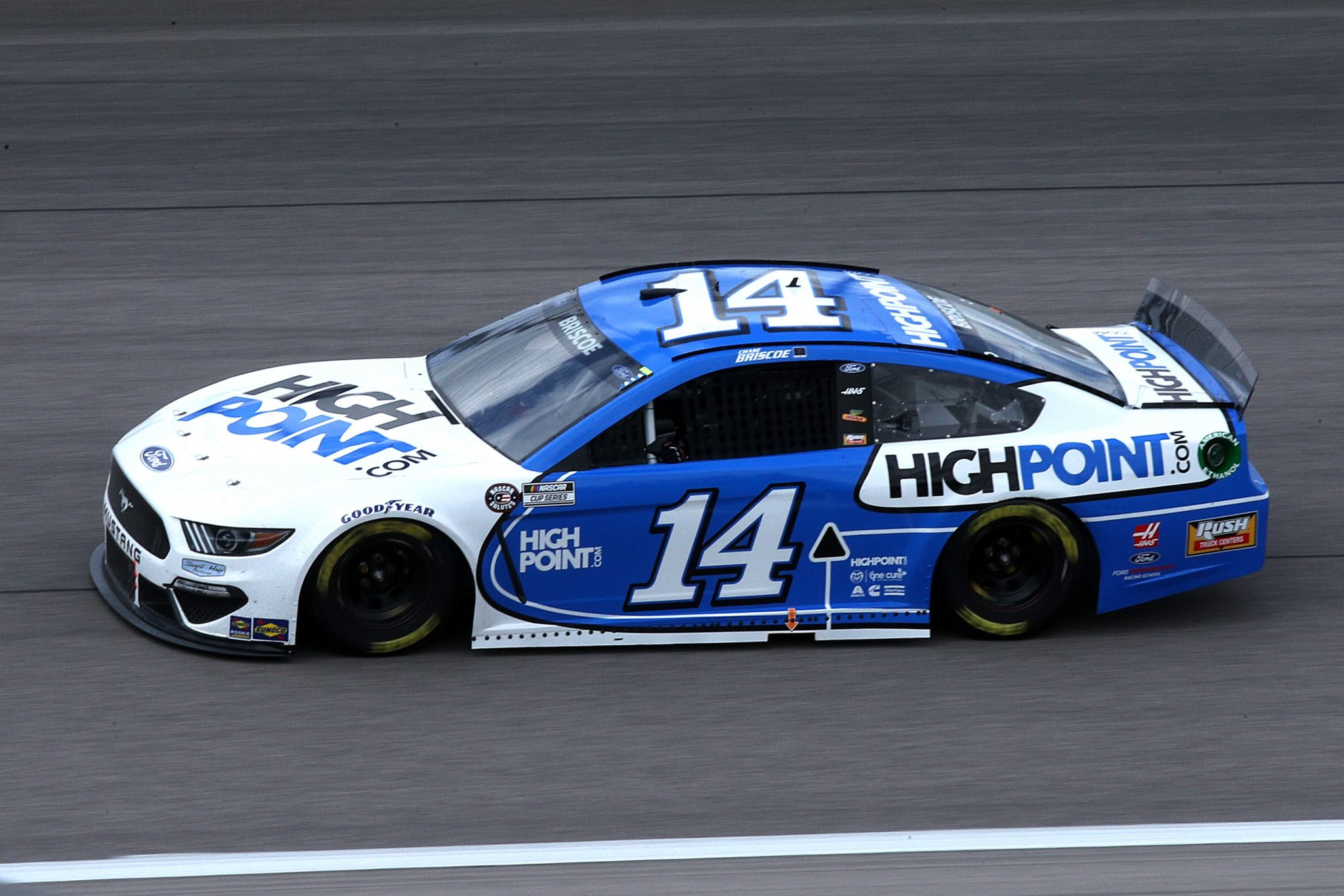 KANSAS CITY, KANSAS - MAY 02: Chase Briscoe, driver of the #14 HighPoint.com Ford, drives during the NASCAR Cup Series Buschy McBusch Race 400 at Kansas Speedway on May 02, 2021 in Kansas City, Kansas. (Photo by Sean Gardner/Getty Images) | Getty Images
