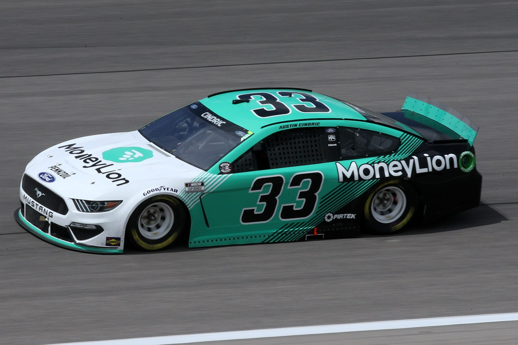 KANSAS CITY, KANSAS - MAY 02: Austin Cindric, driver of the #33 MoneyLion Ford, drives during the NASCAR Cup Series Buschy McBusch Race 400 at Kansas Speedway on May 02, 2021 in Kansas City, Kansas. (Photo by Sean Gardner/Getty Images) | Getty Images