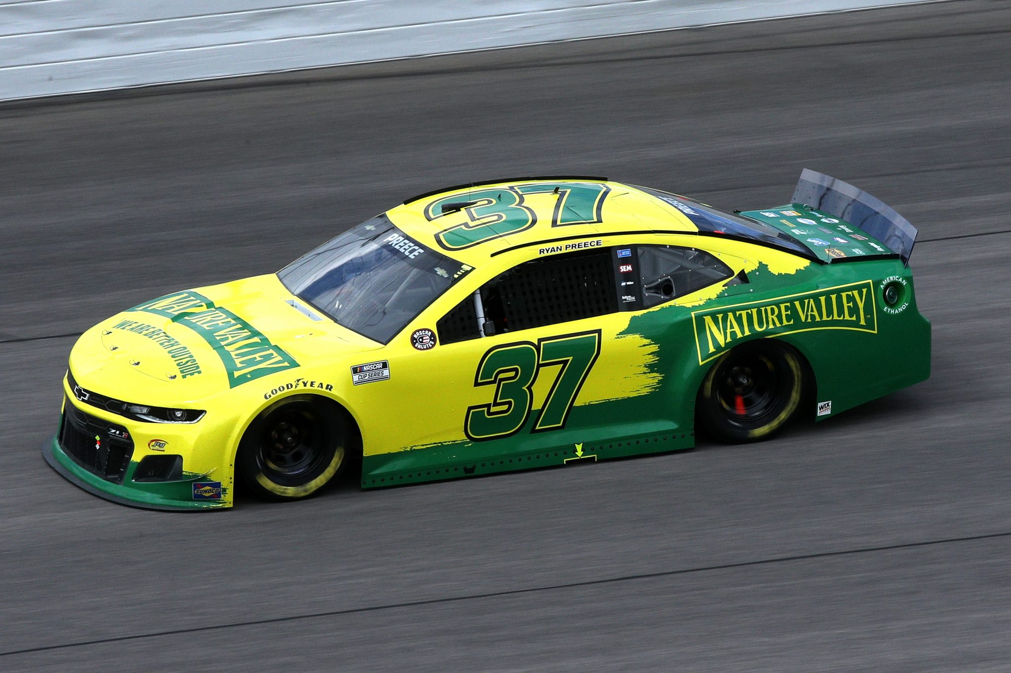 KANSAS CITY, KANSAS - MAY 02: Ryan Preece, driver of the #37 Nature Valley Chevrolet, drives during the NASCAR Cup Series Buschy McBusch Race 400 at Kansas Speedway on May 02, 2021 in Kansas City, Kansas. (Photo by Sean Gardner/Getty Images) | Getty Images