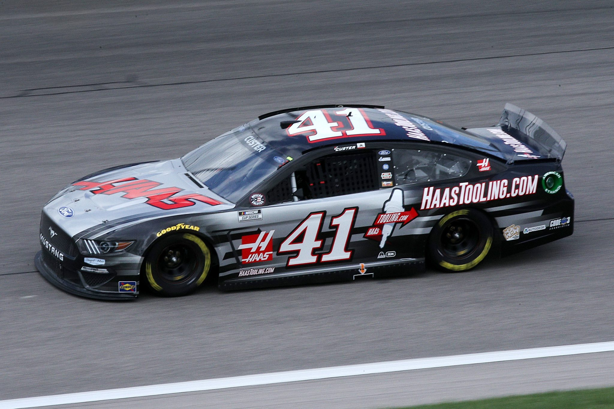 KANSAS CITY, KANSAS - MAY 02: Cole Custer, driver of the #41 HaasTooling.com Ford, drives during the NASCAR Cup Series Buschy McBusch Race 400 at Kansas Speedway on May 02, 2021 in Kansas City, Kansas. (Photo by Sean Gardner/Getty Images) | Getty Images