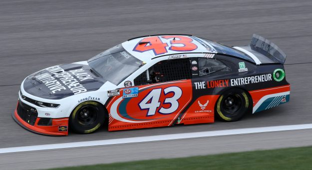 KANSAS CITY, KANSAS - MAY 02: Erik Jones, driver of the #43 Black Entrepreneur Initiative Chevrolet, drives during the NASCAR Cup Series Buschy McBusch Race 400 at Kansas Speedway on May 02, 2021 in Kansas City, Kansas. (Photo by Sean Gardner/Getty Images)   Getty Images