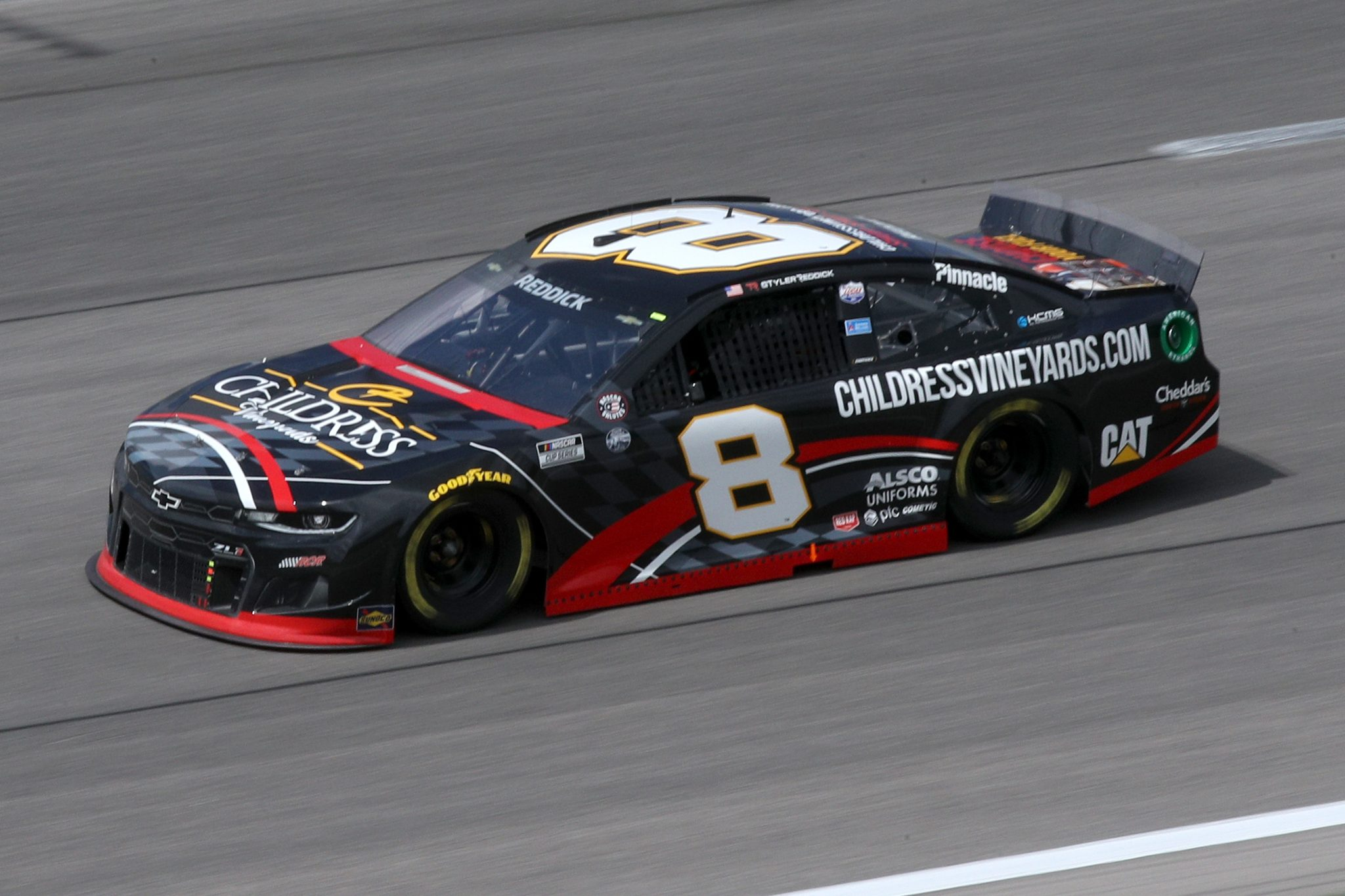 KANSAS CITY, KANSAS - MAY 02: Tyler Reddick, driver of the #8 Childress Vineyards Chevrolet, drives during the NASCAR Cup Series Buschy McBusch Race 400 at Kansas Speedway on May 02, 2021 in Kansas City, Kansas. (Photo by Sean Gardner/Getty Images) | Getty Images