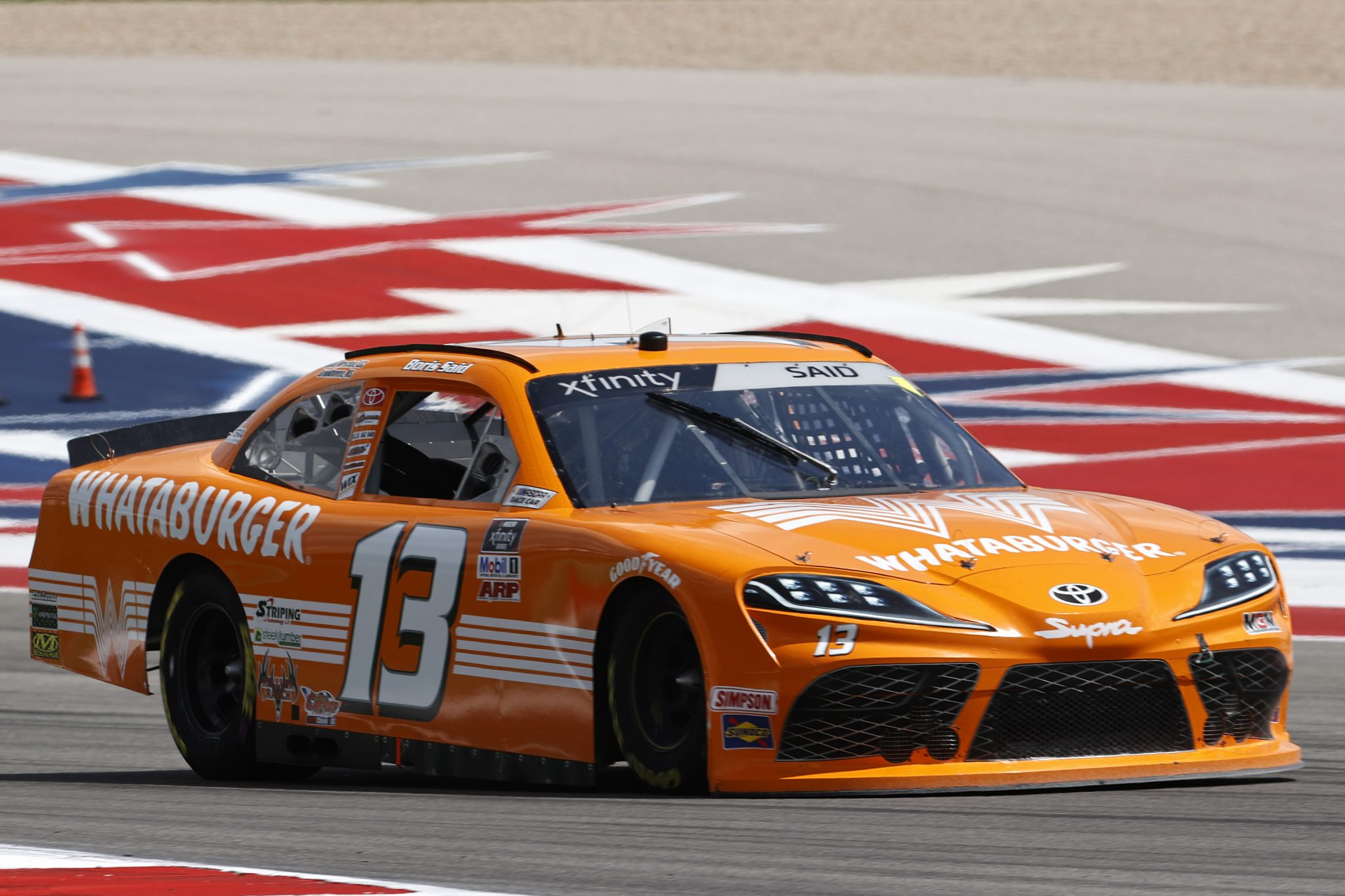 AUSTIN, TEXAS - MAY 21: Boris Said, driver of the #13 Whataburger Toyota, drives during practice for the NASCAR Xfinity Series Pit Boss 250 at Circuit of The Americas on May 21, 2021 in Austin, Texas. (Photo by Chris Graythen/Getty Images) | Getty Images