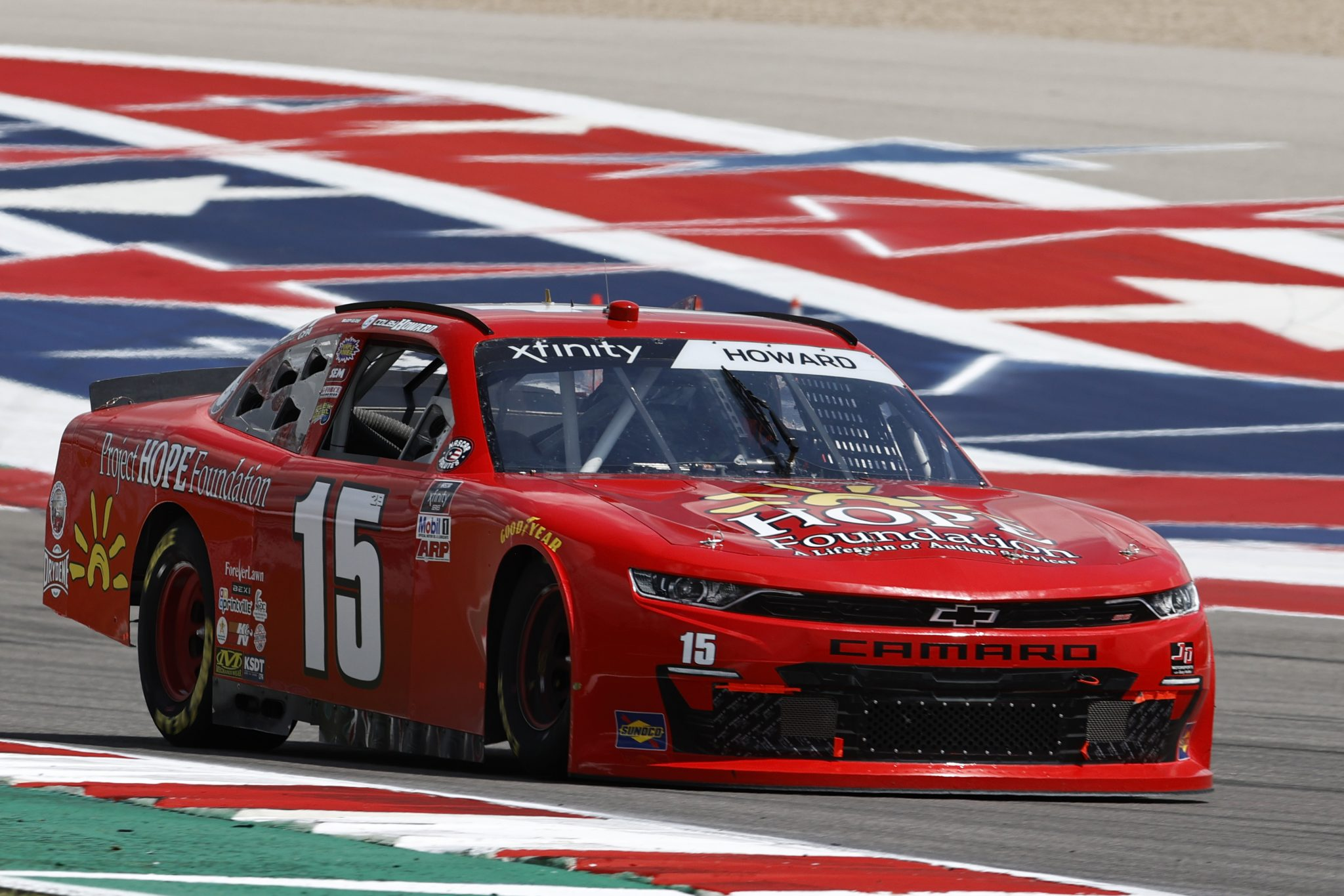 AUSTIN, TEXAS - MAY 21: Colby Howard, driver of the #15 Project Hope Foundation Chevrolet, drives during practice for the NASCAR Xfinity Series Pit Boss 250 at Circuit of The Americas on May 21, 2021 in Austin, Texas. (Photo by Chris Graythen/Getty Images) | Getty Images