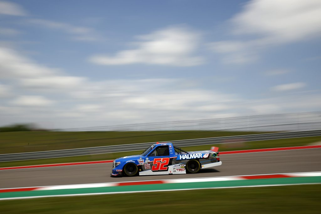 AUSTIN, TEXAS - MAY 21: Stewart Friesen, driver of the #52 Halmar International Toyota, drives during practice for the NASCAR Camping World Truck Series Toyota Tundra 225 at Circuit of The Americas on May 21, 2021 in Austin, Texas. (Photo by Jared C. Tilton/Getty Images) | Getty Images