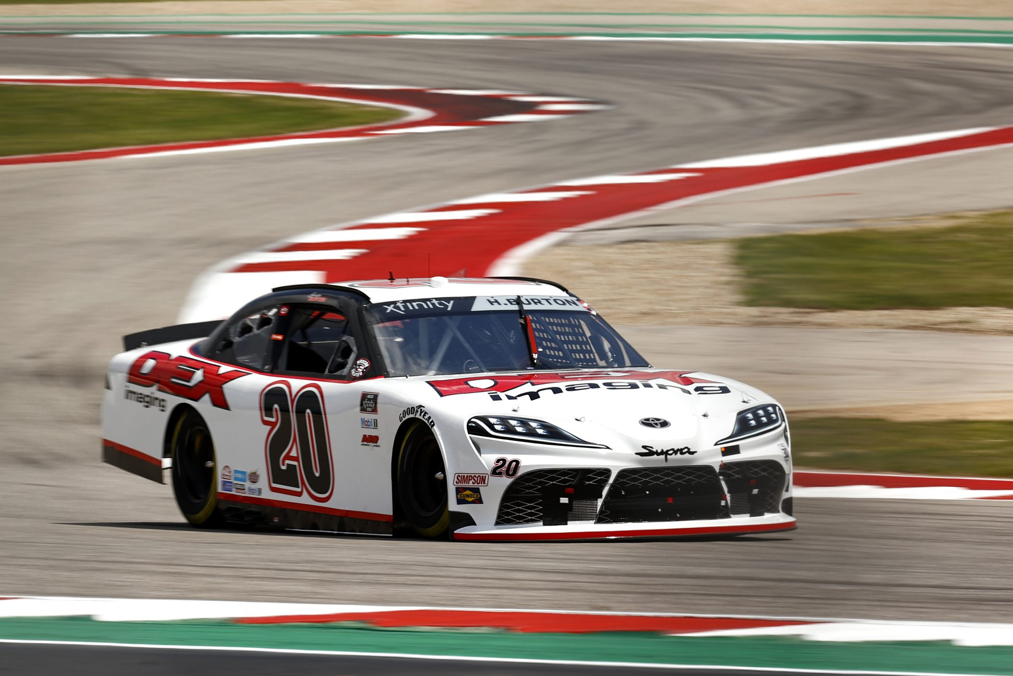 AUSTIN, TEXAS - MAY 21: Harrison Burton, driver of the #20 DEX Imaging Toyota, drives during practice for the NASCAR Xfinity Series Pit Boss 250 at Circuit of The Americas on May 21, 2021 in Austin, Texas. (Photo by Jared C. Tilton/Getty Images) | Getty Images