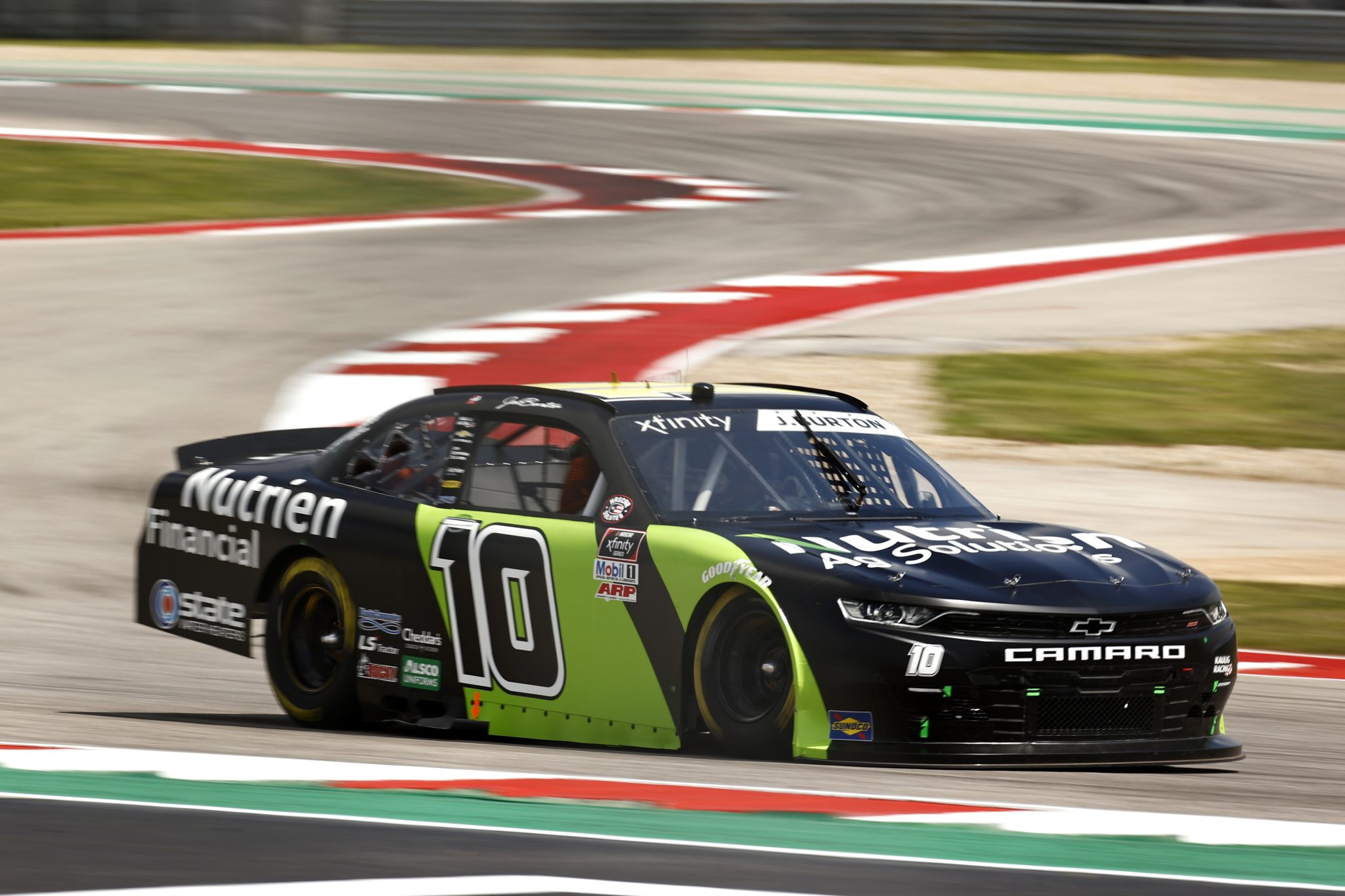AUSTIN, TEXAS - MAY 21: Jeb Burton, driver of the #10 Nutrien Ag Solutions Chevrolet, drives during practice for the NASCAR Xfinity Series Pit Boss 250 at Circuit of The Americas on May 21, 2021 in Austin, Texas. (Photo by Jared C. Tilton/Getty Images) | Getty Images