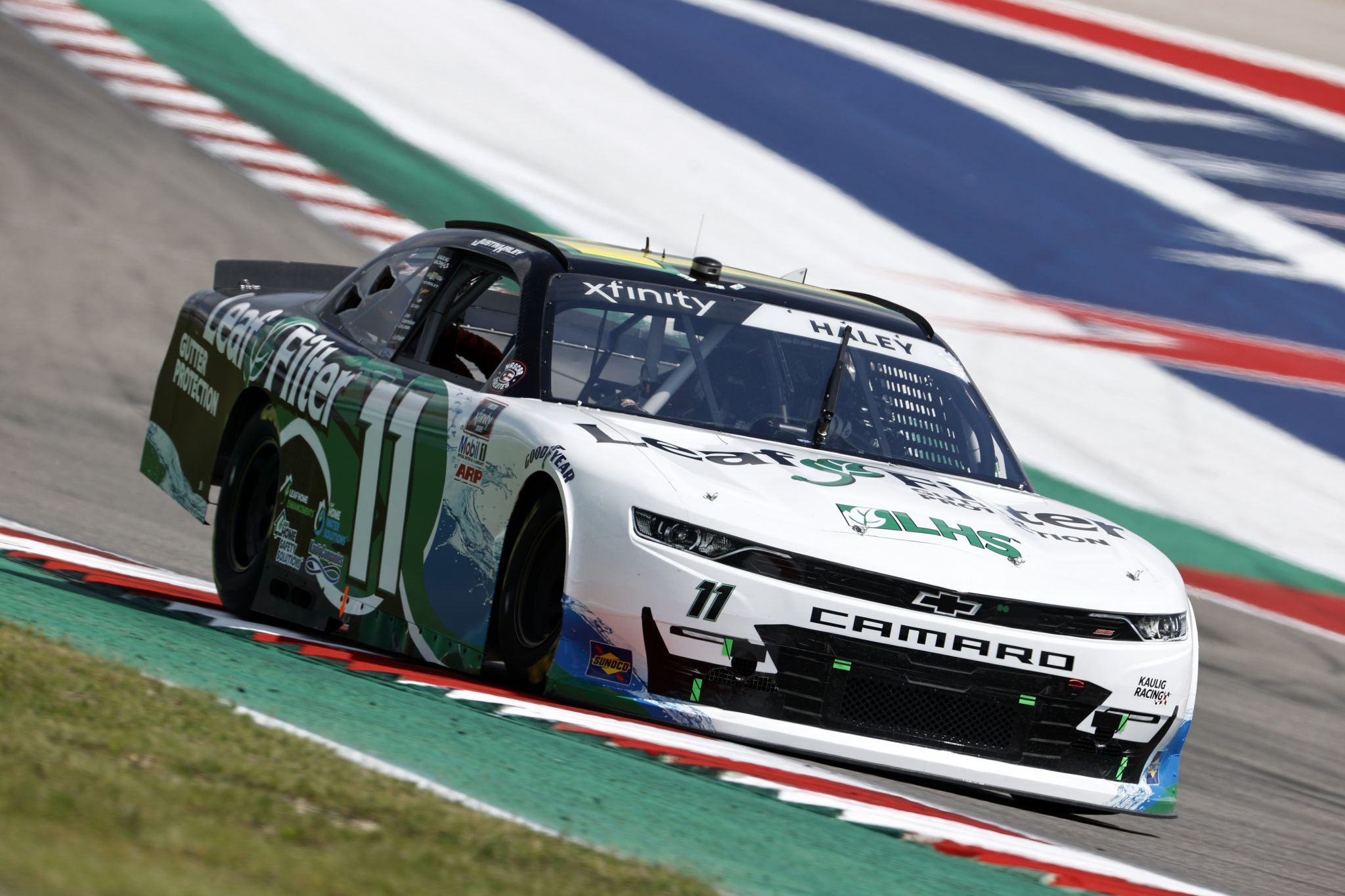 AUSTIN, TEXAS - MAY 21: Justin Haley, driver of the #11 LeafFilter Gutter Protection Chevrolet, drives during practice for the NASCAR Xfinity Series Pit Boss 250 at Circuit of The Americas on May 21, 2021 in Austin, Texas. (Photo by Chris Graythen/Getty Images) | Getty Images