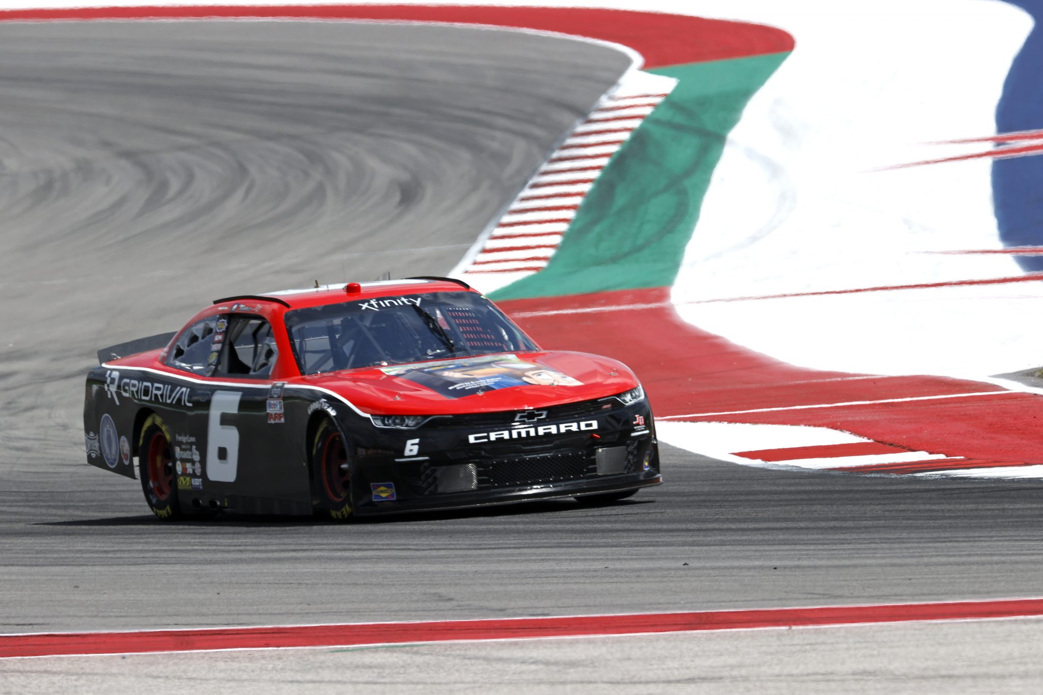 AUSTIN, TEXAS - MAY 21: Spencer Pumpelly, driver of the #6 Fast Life/GridRival Chevrolet, drives during practice for the NASCAR Xfinity Series Pit Boss 250 at Circuit of The Americas on May 21, 2021 in Austin, Texas. (Photo by Chris Graythen/Getty Images) | Getty Images