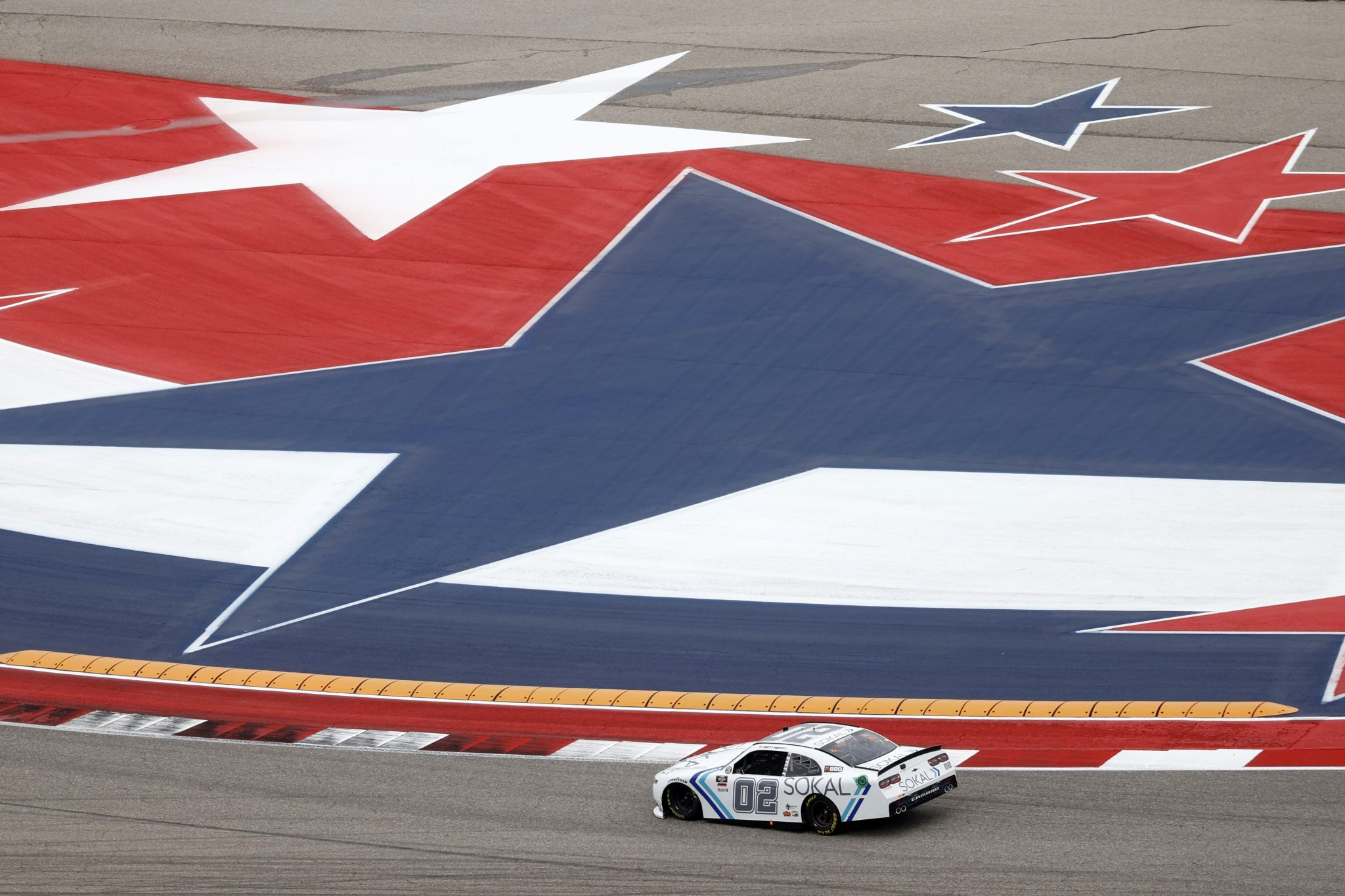 AUSTIN, TEXAS - MAY 22: Brett Moffitt, driver of the #02 SOKAL Chevrolet, drives during the NASCAR Xfinity Series Pit Boss 250 at Circuit of The Americas on May 22, 2021 in Austin, Texas. (Photo by Chris Graythen/Getty Images) | Getty Images
